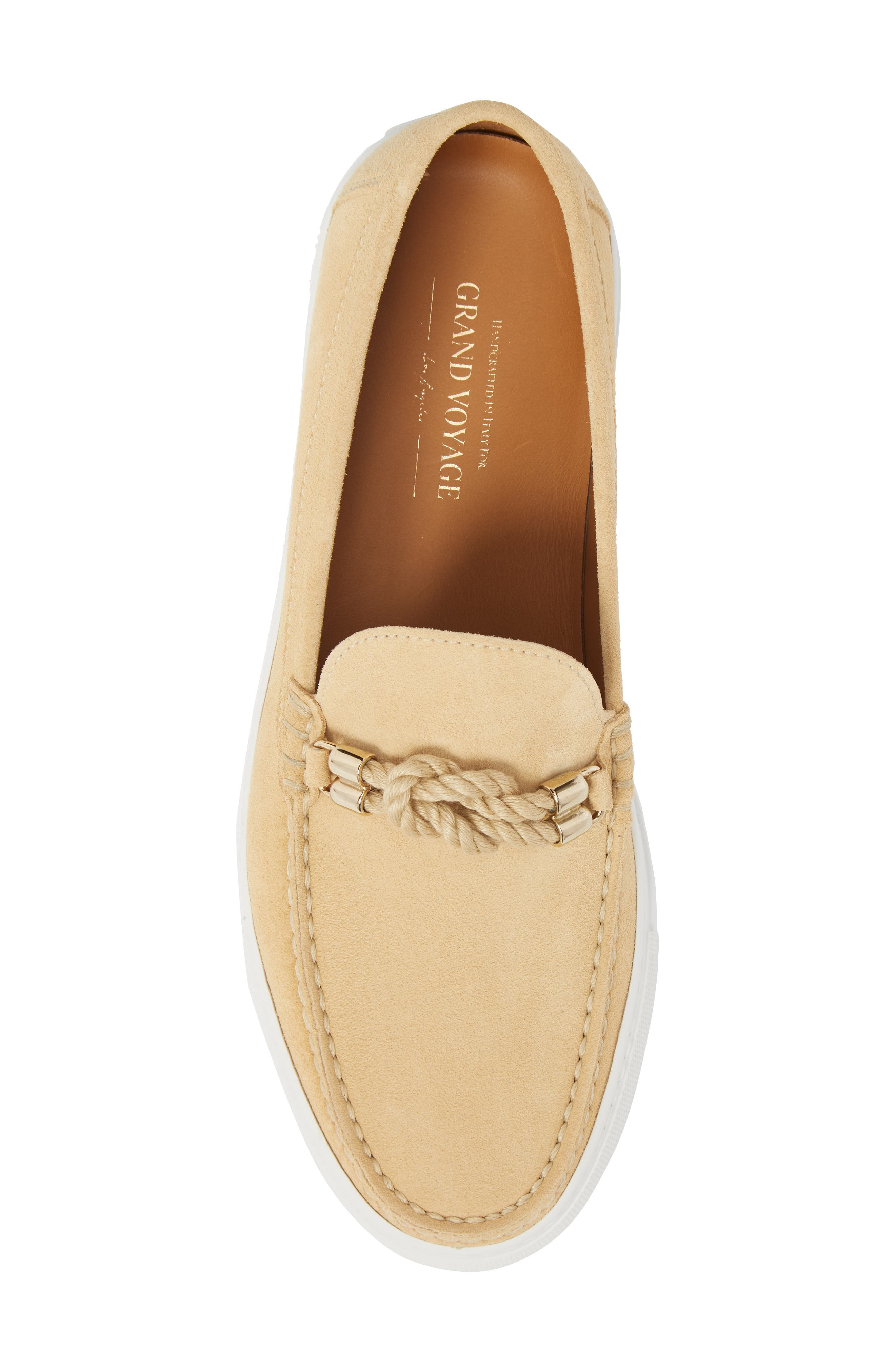 Bitton Square Knot Loafer,                             Alternate thumbnail 5, color,                             BEIGE SUEDE