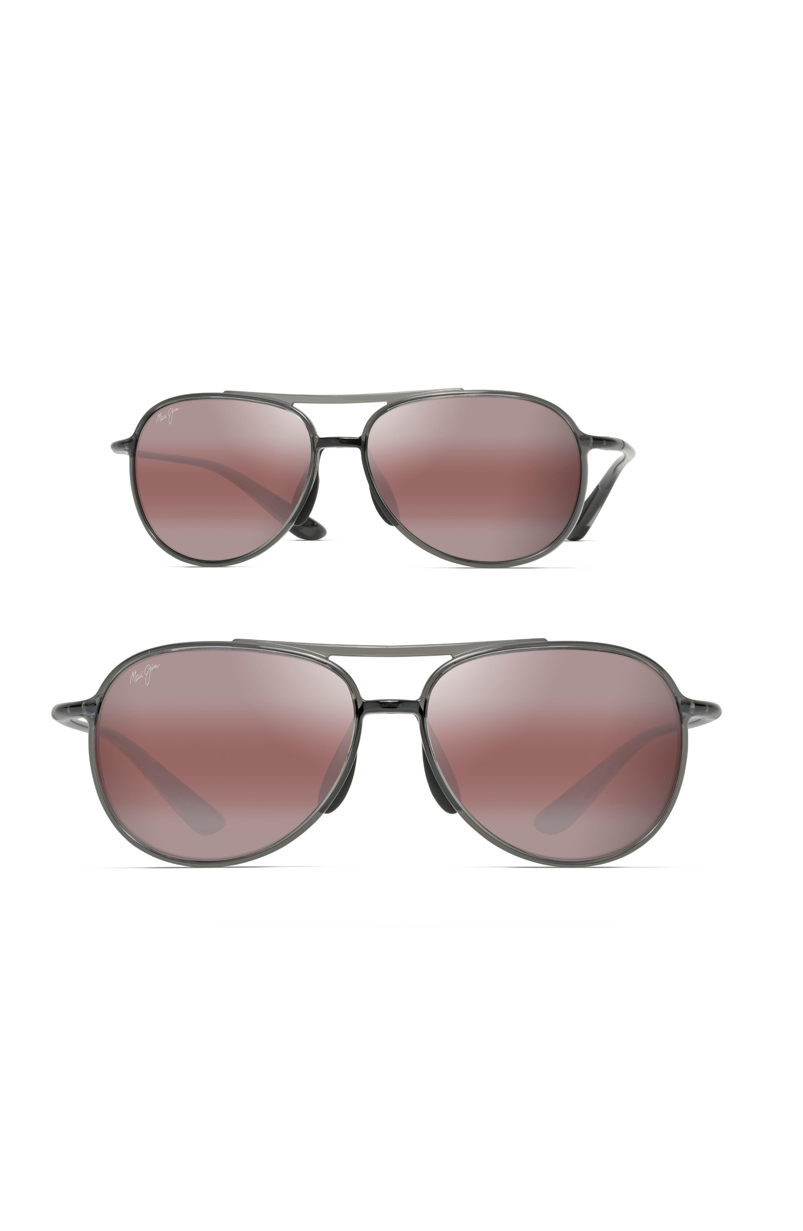 Alelele 60mm Aviator Sunglasses, Main, color, TRANSPARENT SMOKE GREY/ BRONZE