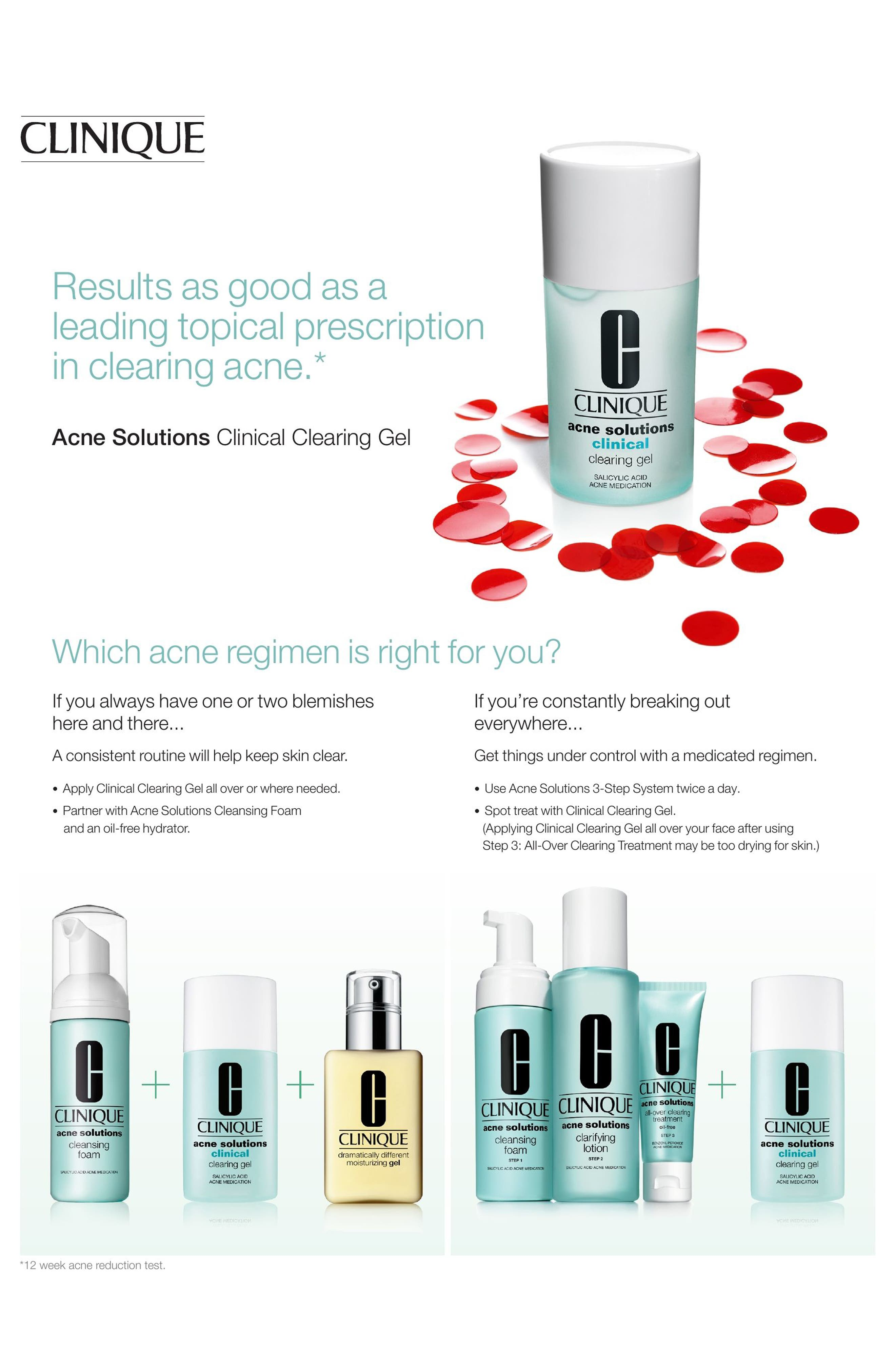 Acne Solutions Clinical Clearing Gel,                             Alternate thumbnail 6, color,                             NO COLOR