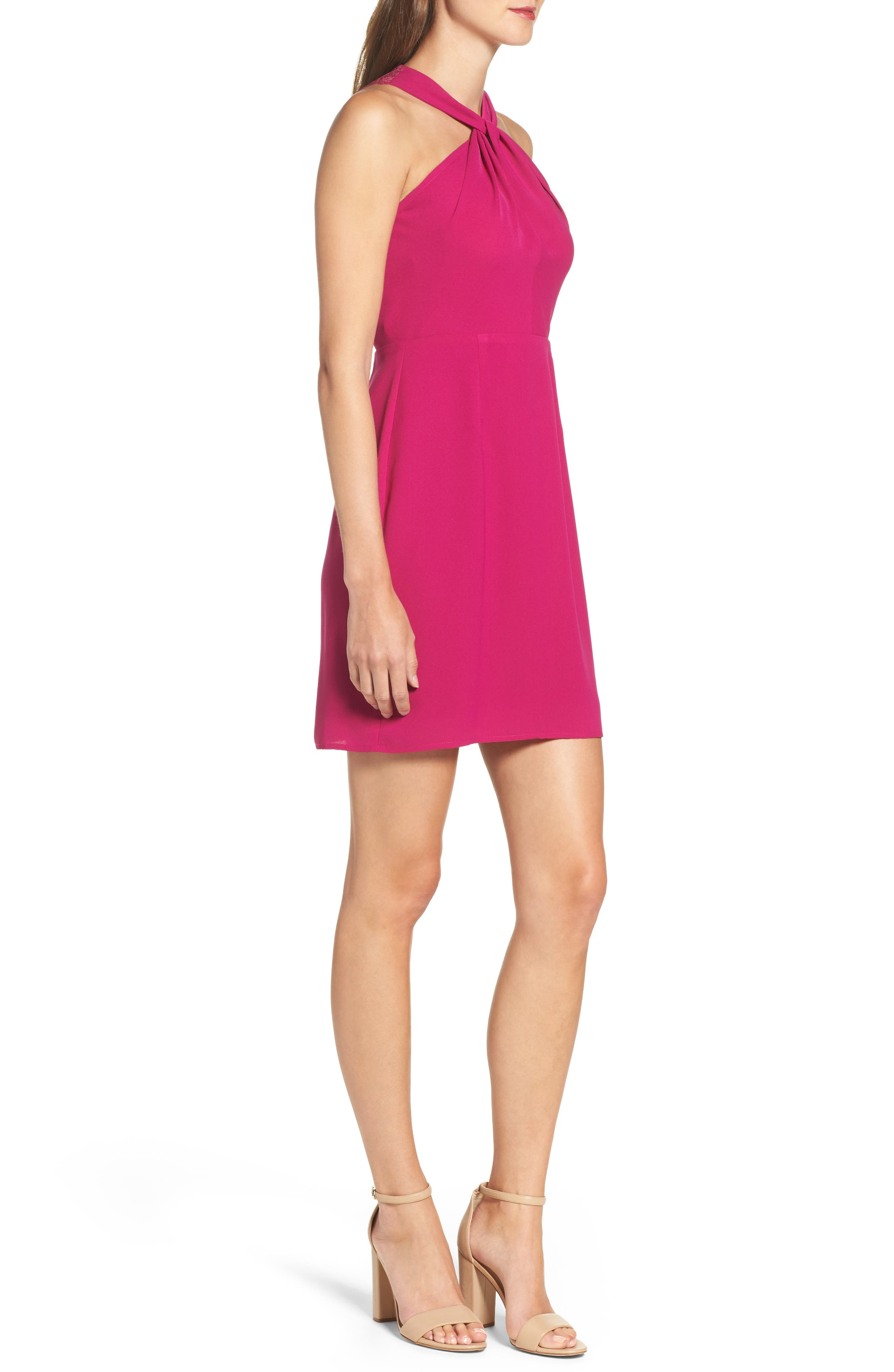 Lace Back Sheath Dress,                             Alternate thumbnail 6, color,