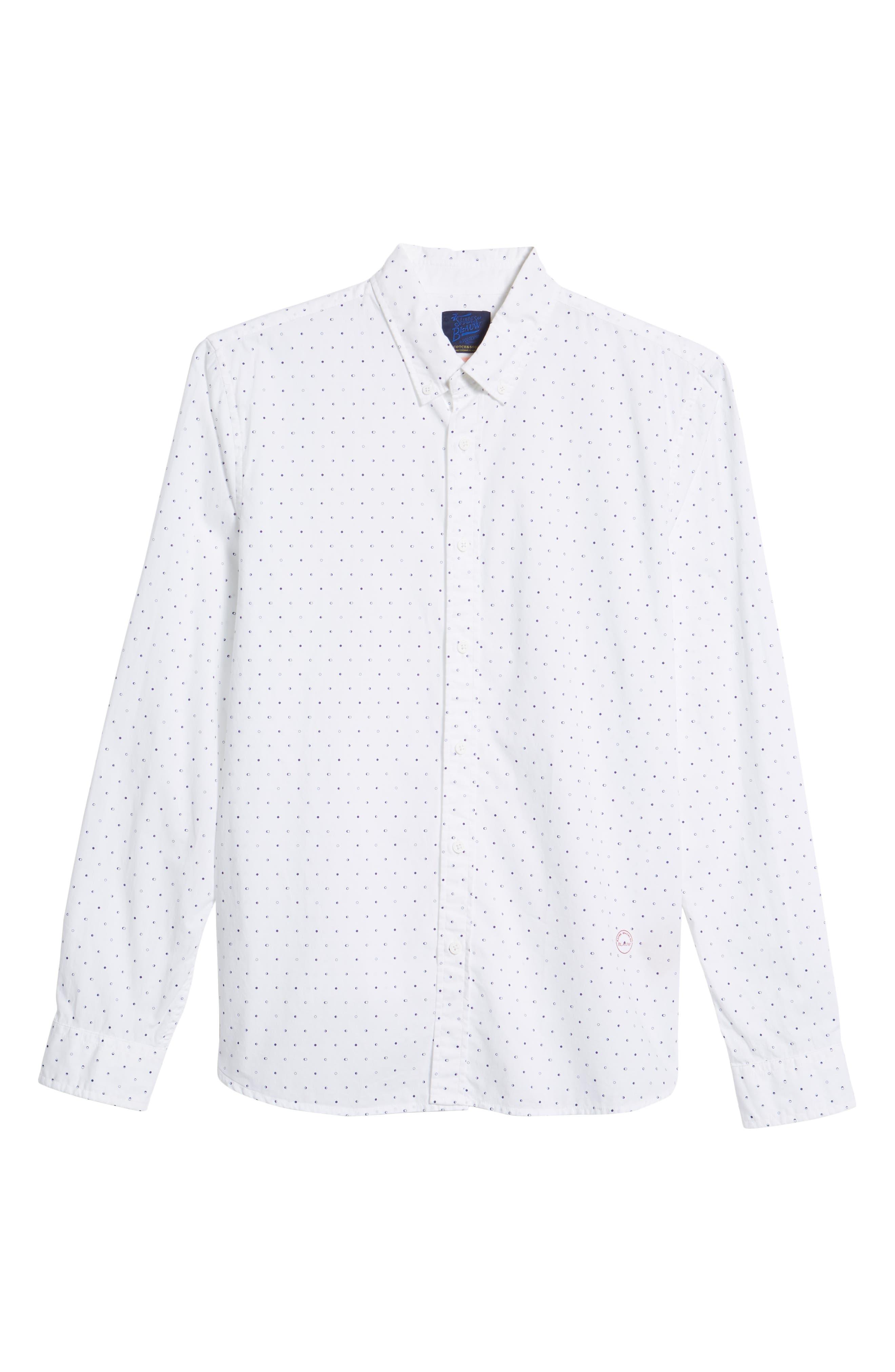 Amsterdams Blauw Simple Light Print Sport Shirt,                             Alternate thumbnail 6, color,                             110