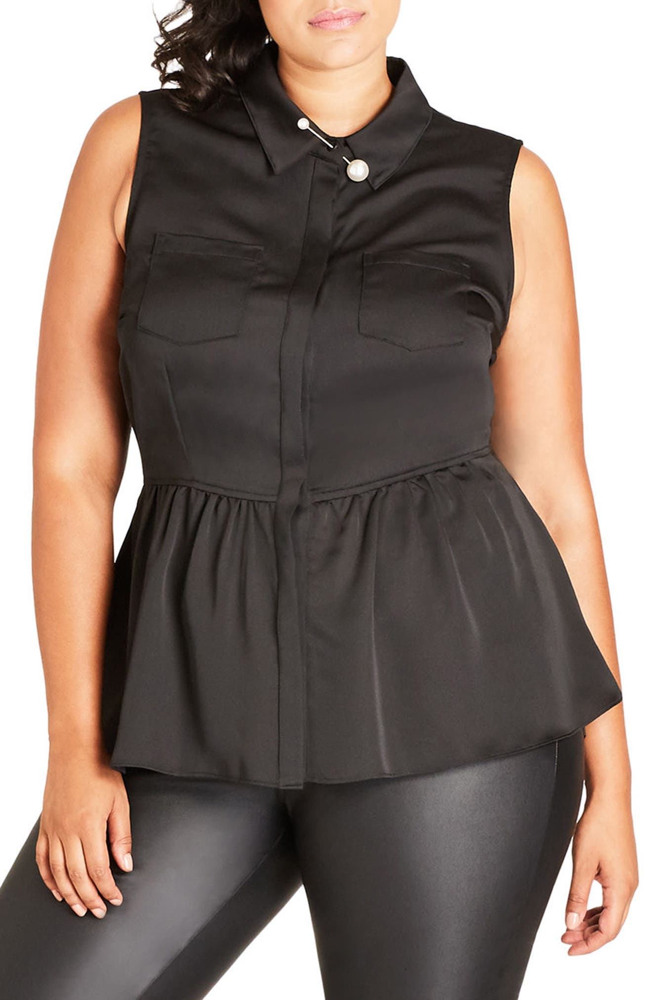 High/Low Ruffle Tank,                         Main,                         color,