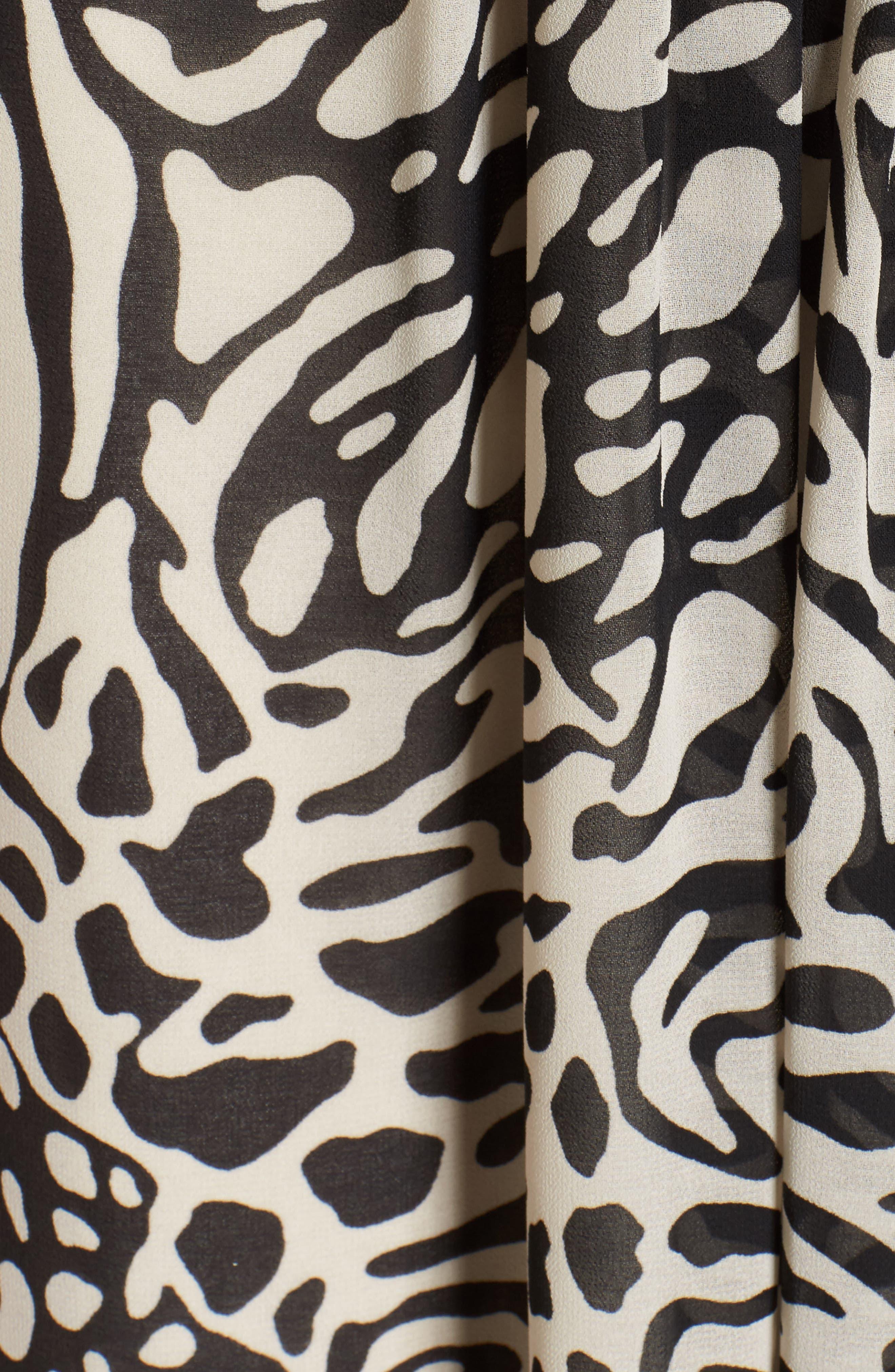 Print A-Line Dress,                             Alternate thumbnail 5, color,