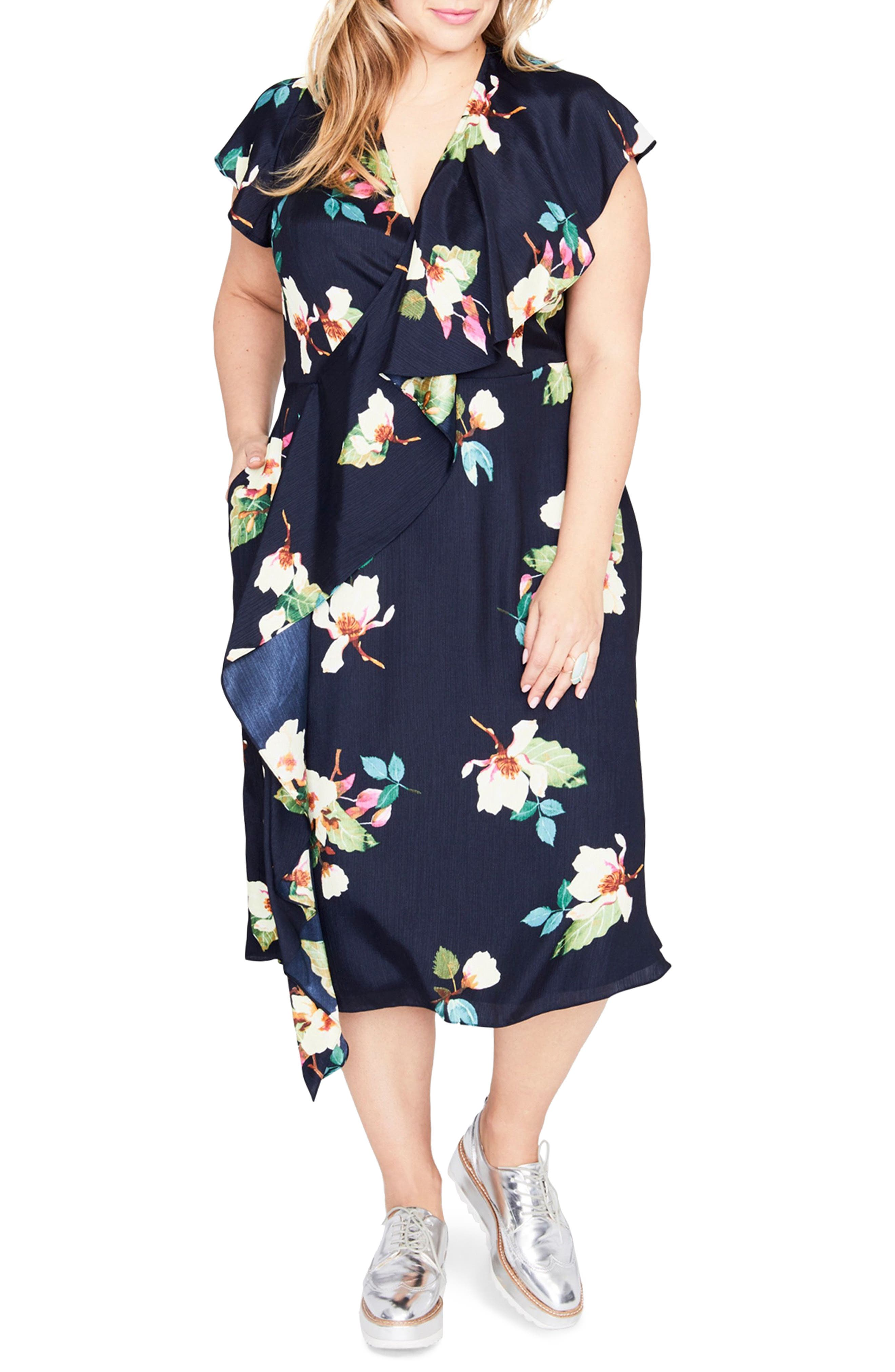 Magnolia Midi Dress,                             Main thumbnail 1, color,                             432