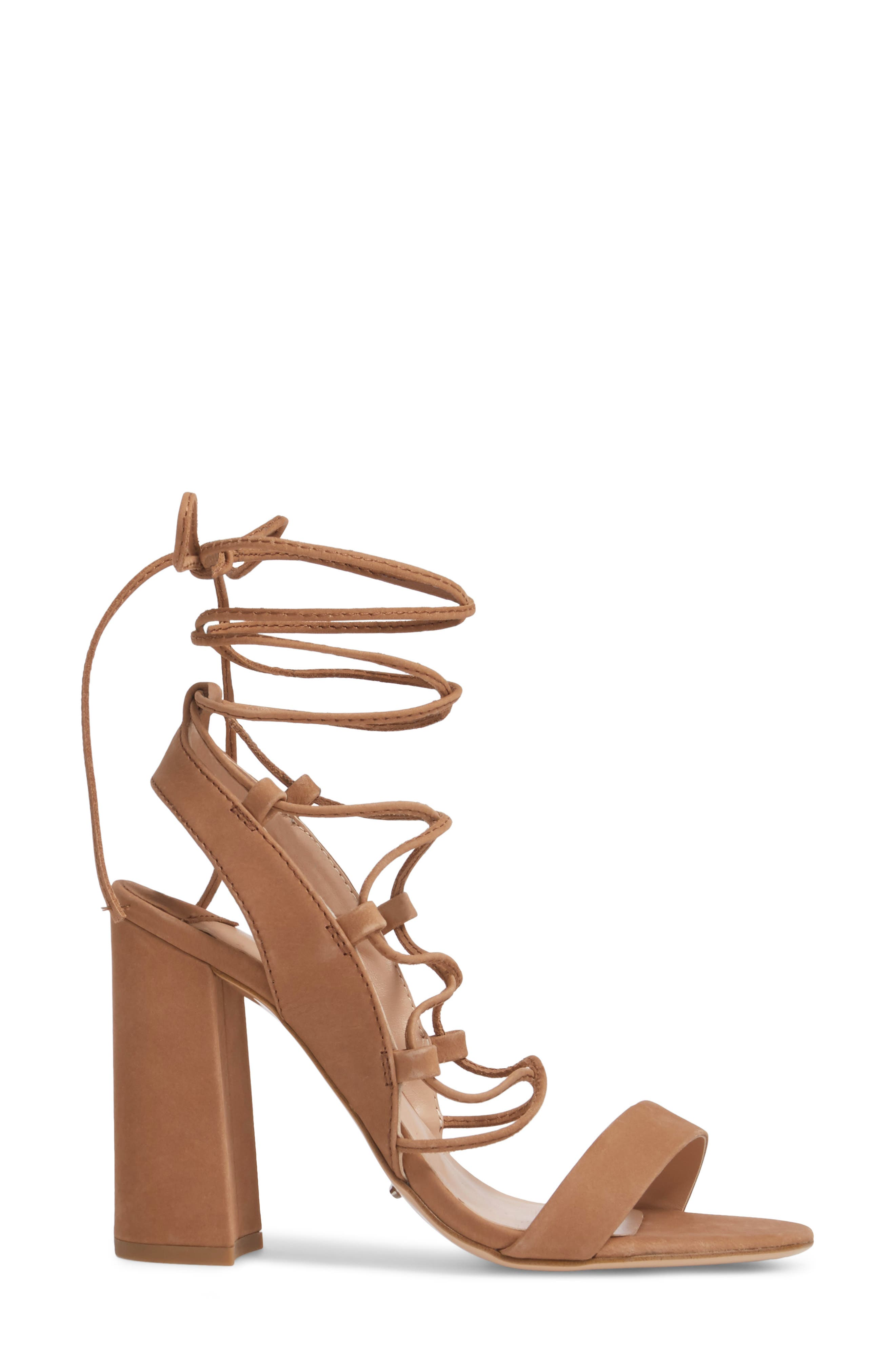 Dani Ghillie Flared Heel Sandal,                             Alternate thumbnail 6, color,