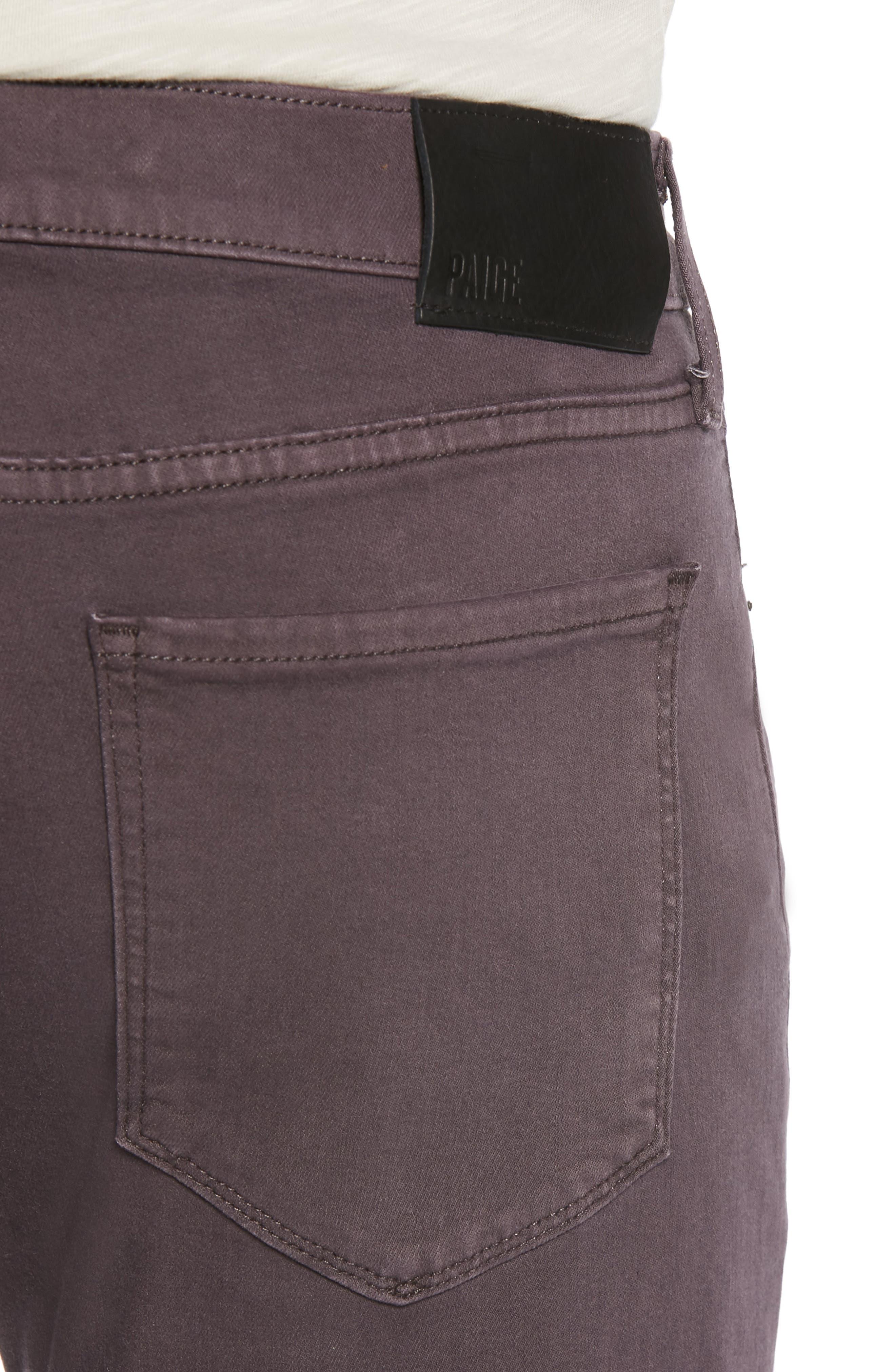 Transcend - Lennox Slim Fit Jeans,                             Alternate thumbnail 4, color,                             VINTAGE PLUM WINE