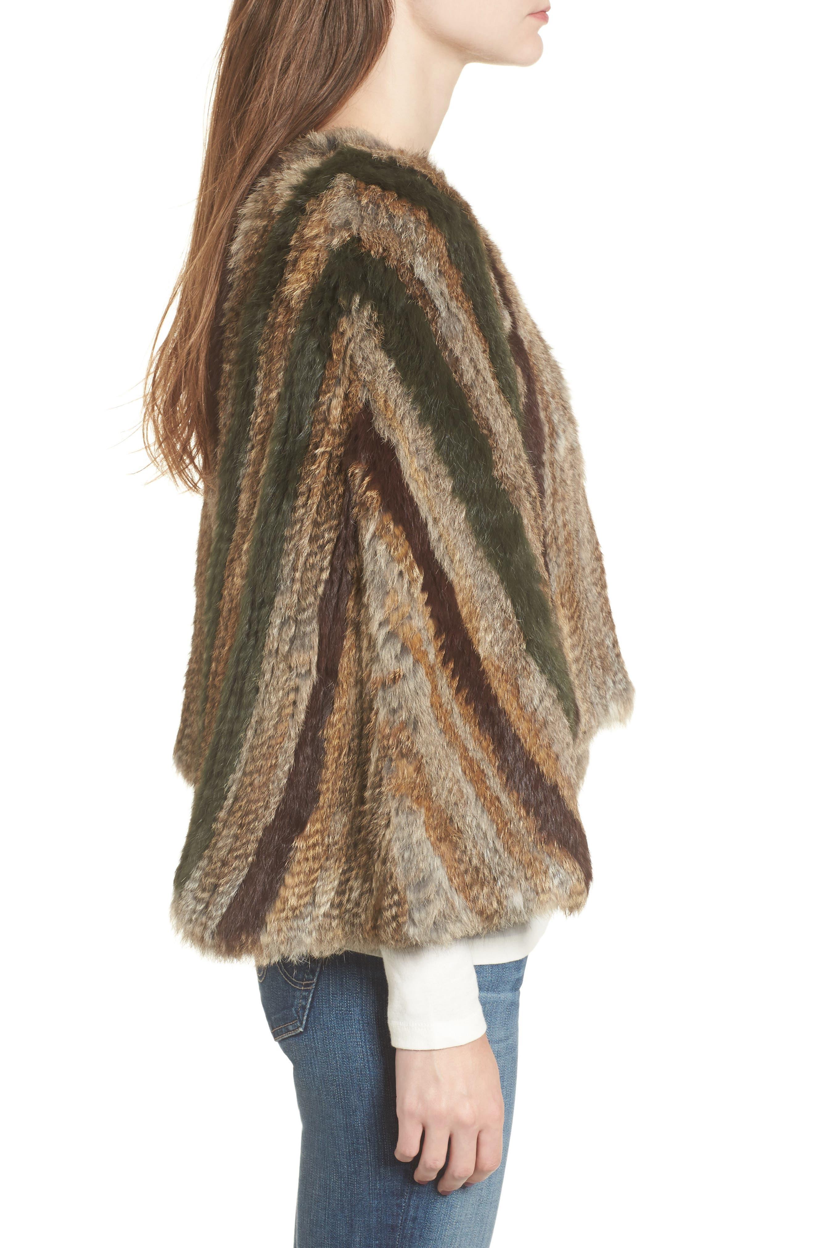 BNCI Nomad Genuine Rabbit Fur Pullover,                             Alternate thumbnail 3, color,                             208