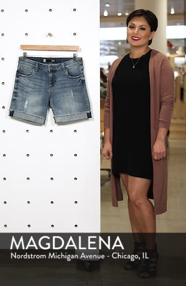 Catherine Ripped Denim Boyfriend Shorts, sales video thumbnail
