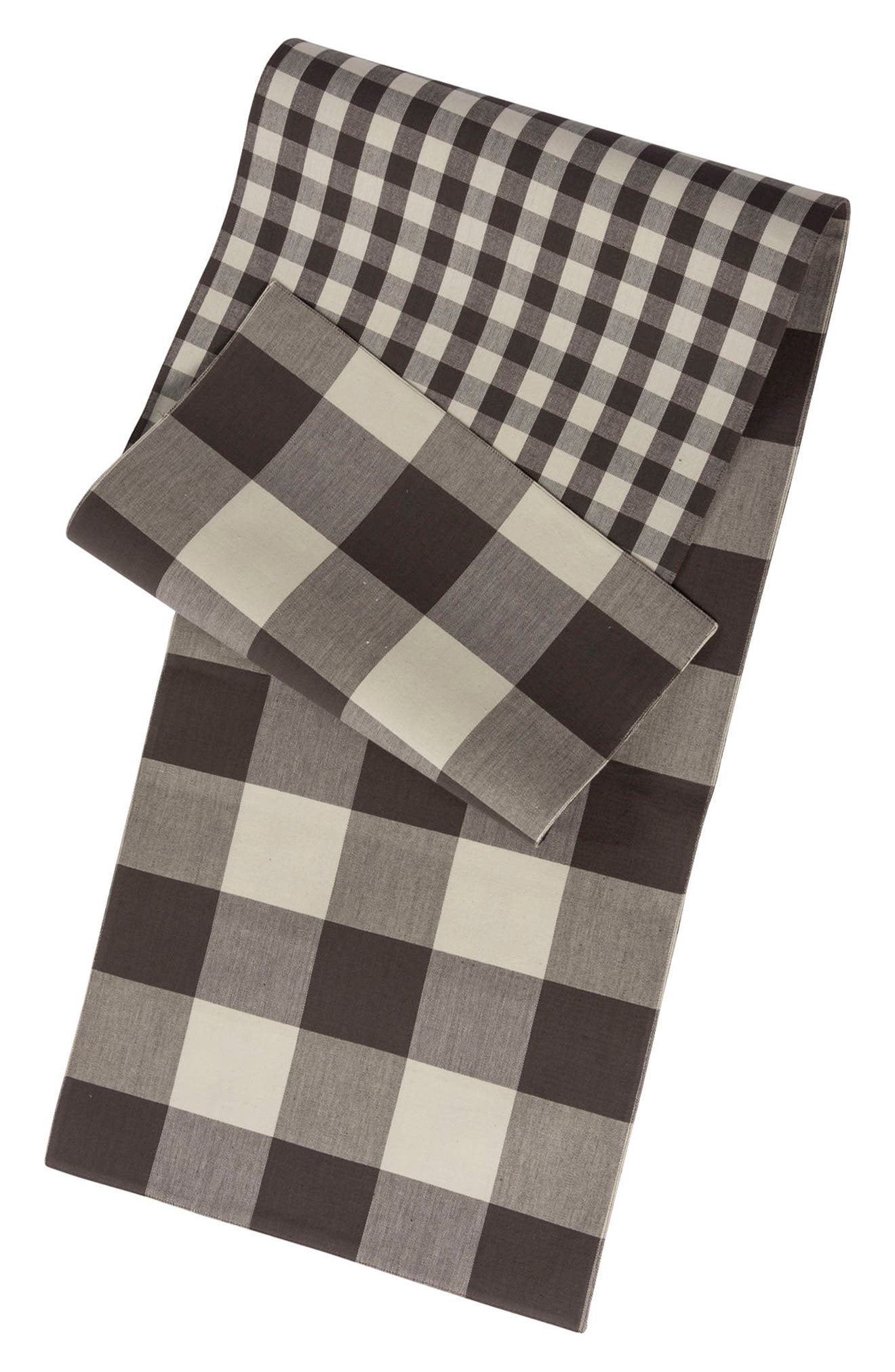 Buffalo Check Table Runner,                             Alternate thumbnail 3, color,                             020