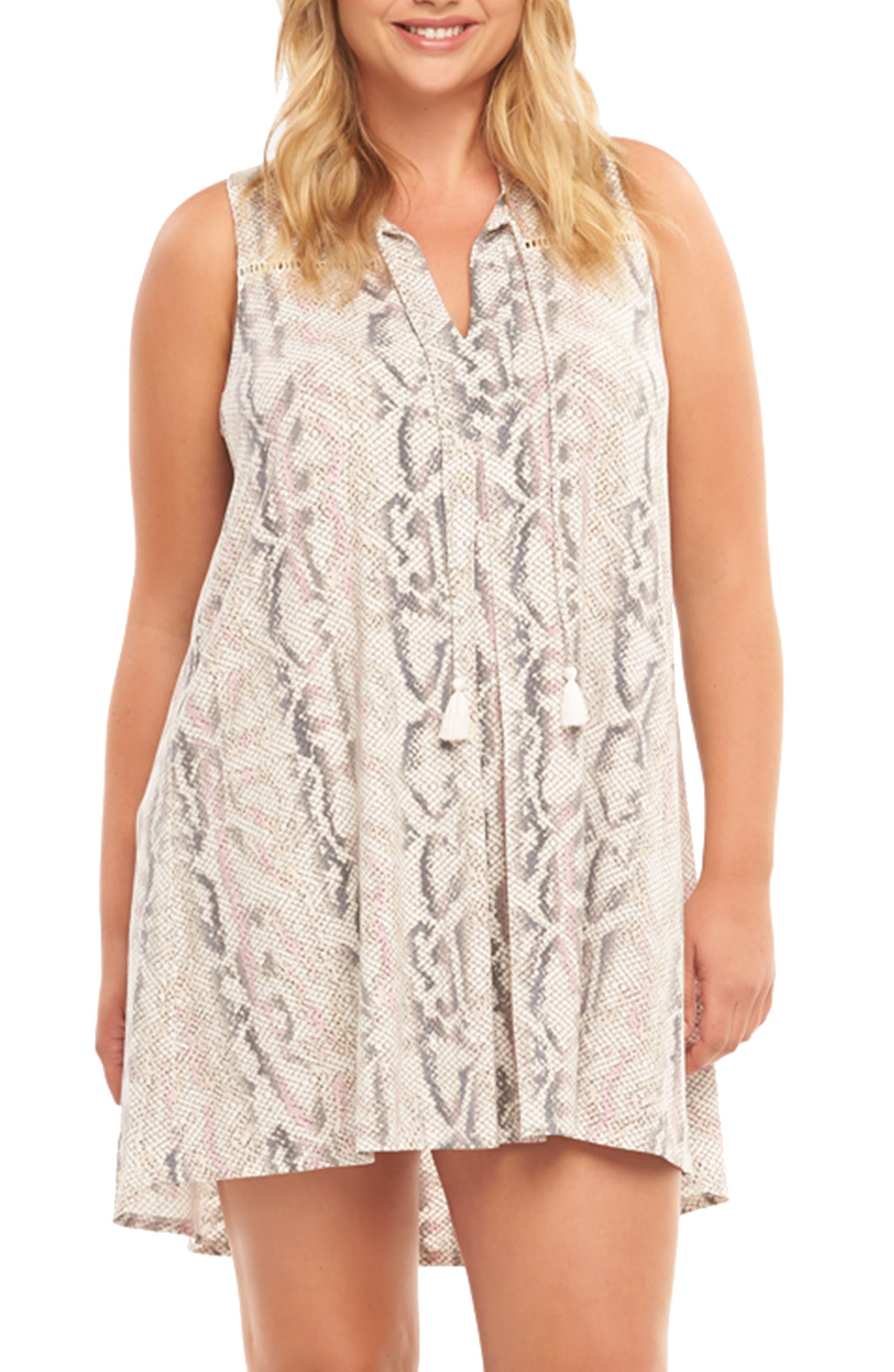 Plus Size Tart Addilyn Print Minidress, Pink