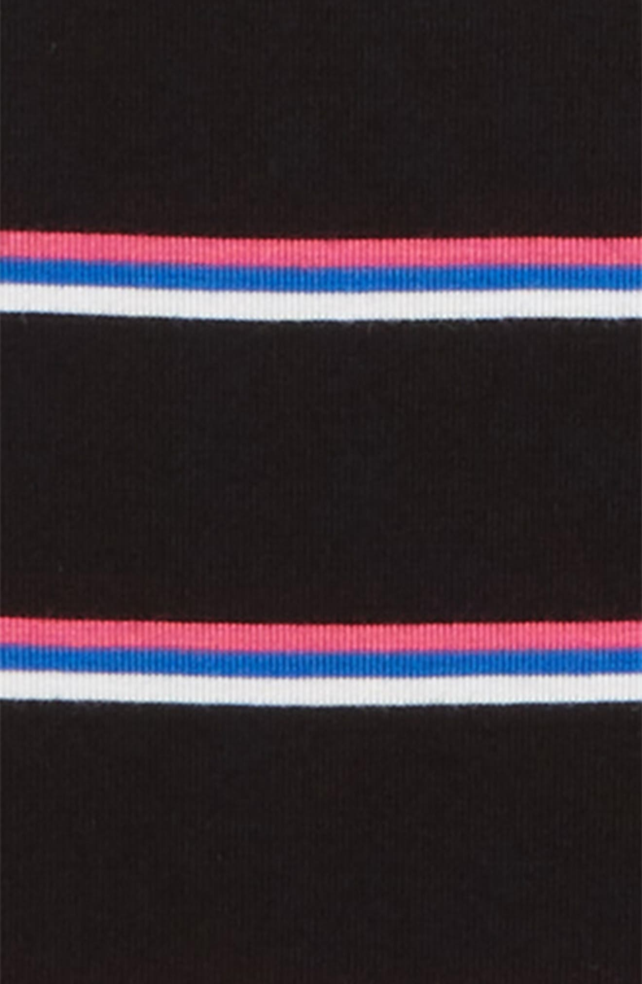Stripe Tee,                             Alternate thumbnail 2, color,                             BLACK MULTI STRIPE