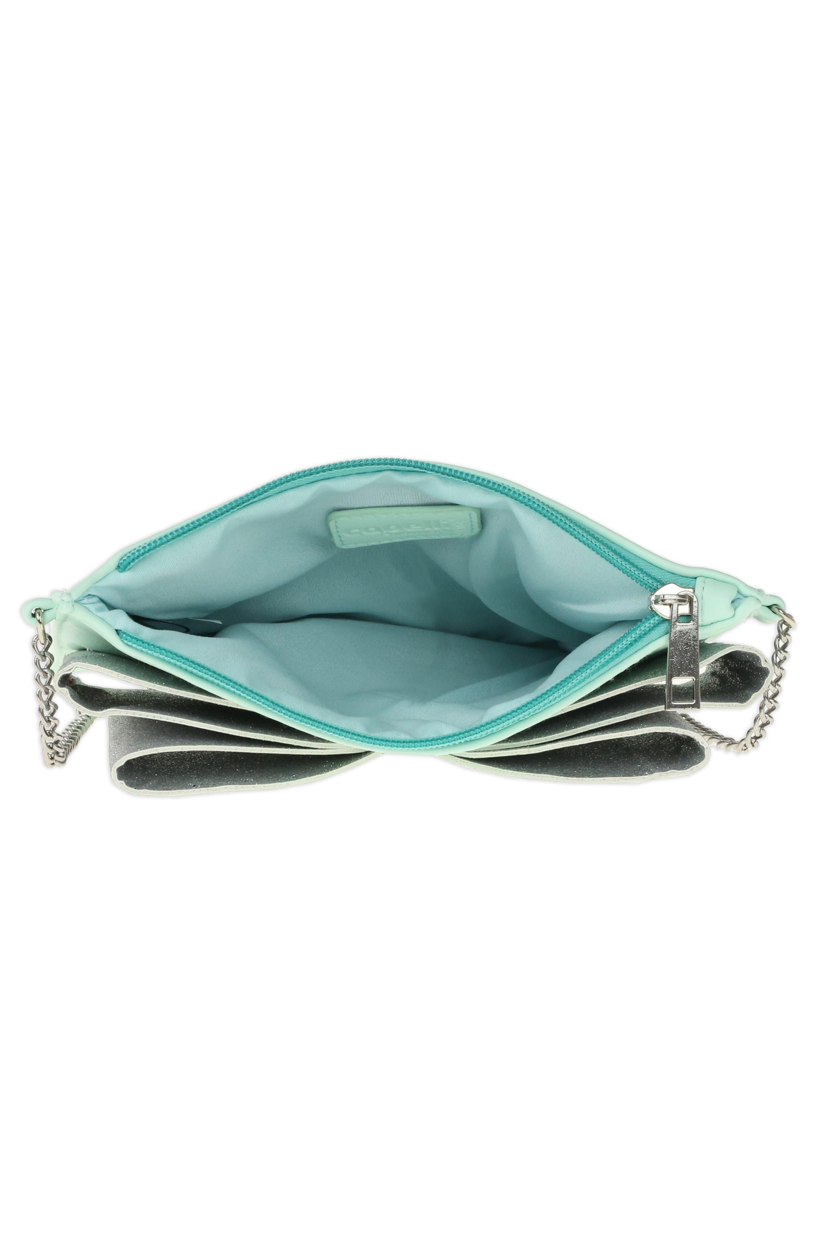 Glitter Bow Crossbody Bag,                             Alternate thumbnail 3, color,                             338
