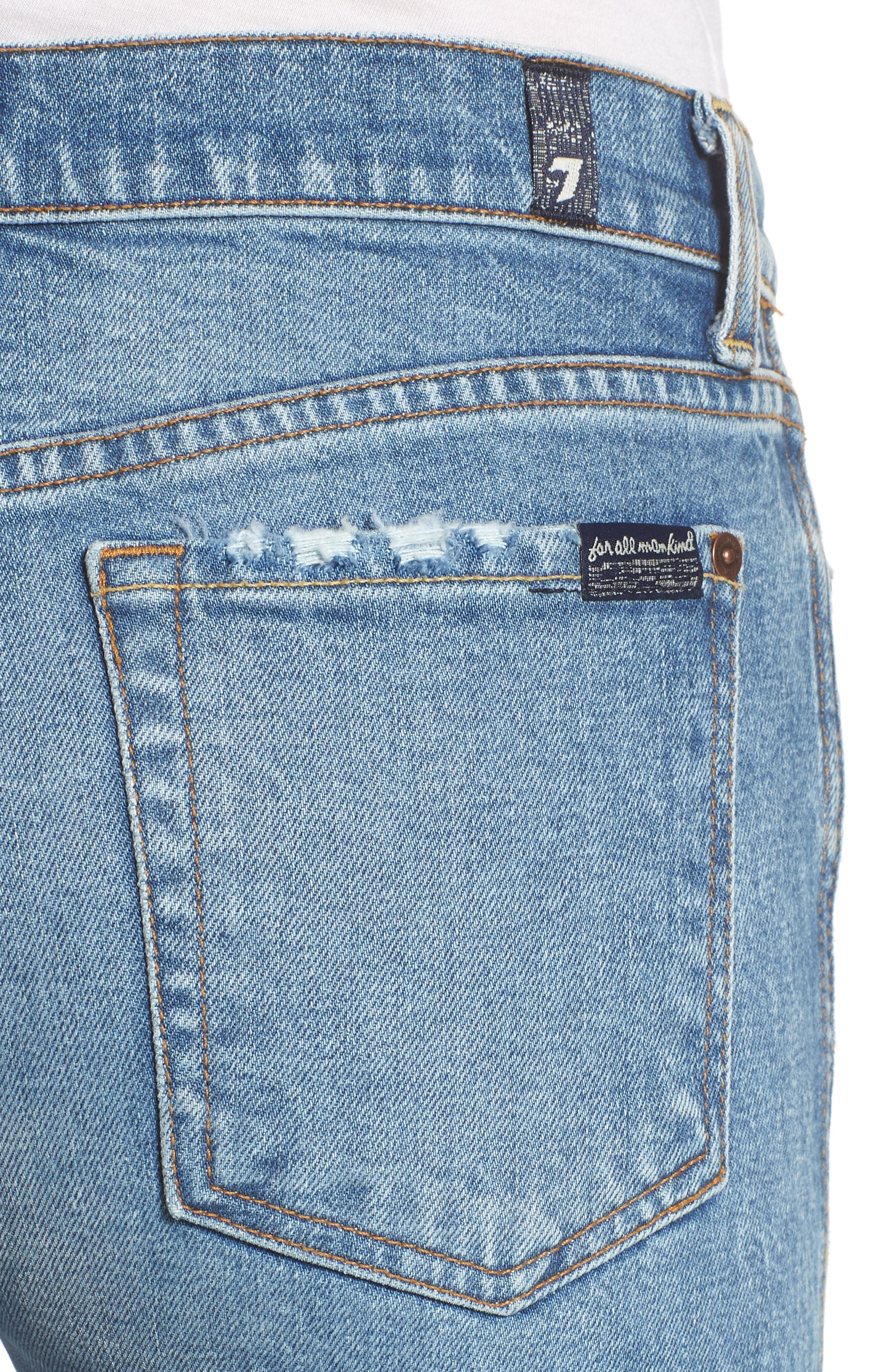 Edie High Waist Crop Straight Leg Jeans,                             Alternate thumbnail 19, color,