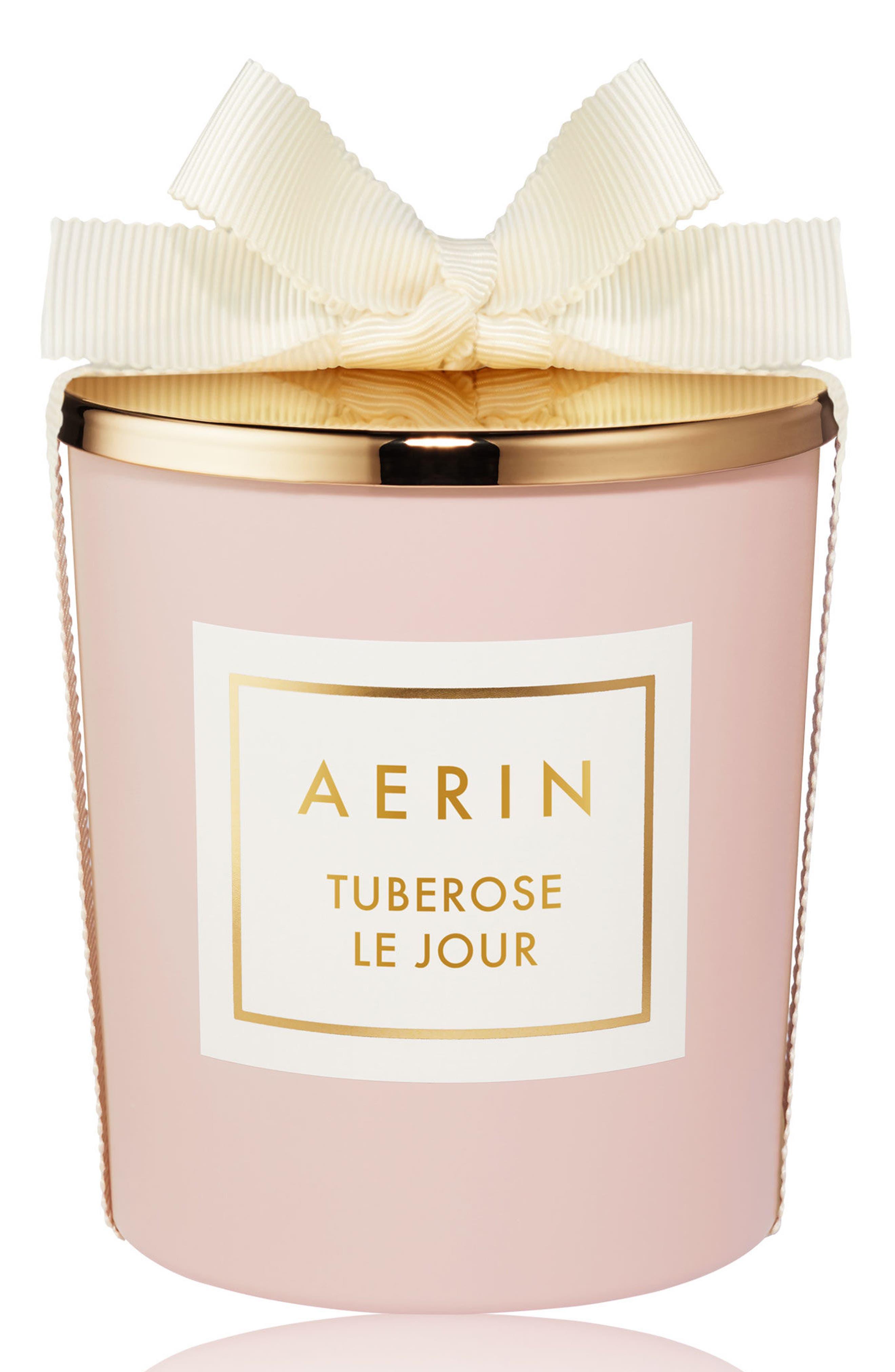 AERIN Beauty Tuberose Le Jour Candle,                             Main thumbnail 1, color,                             000