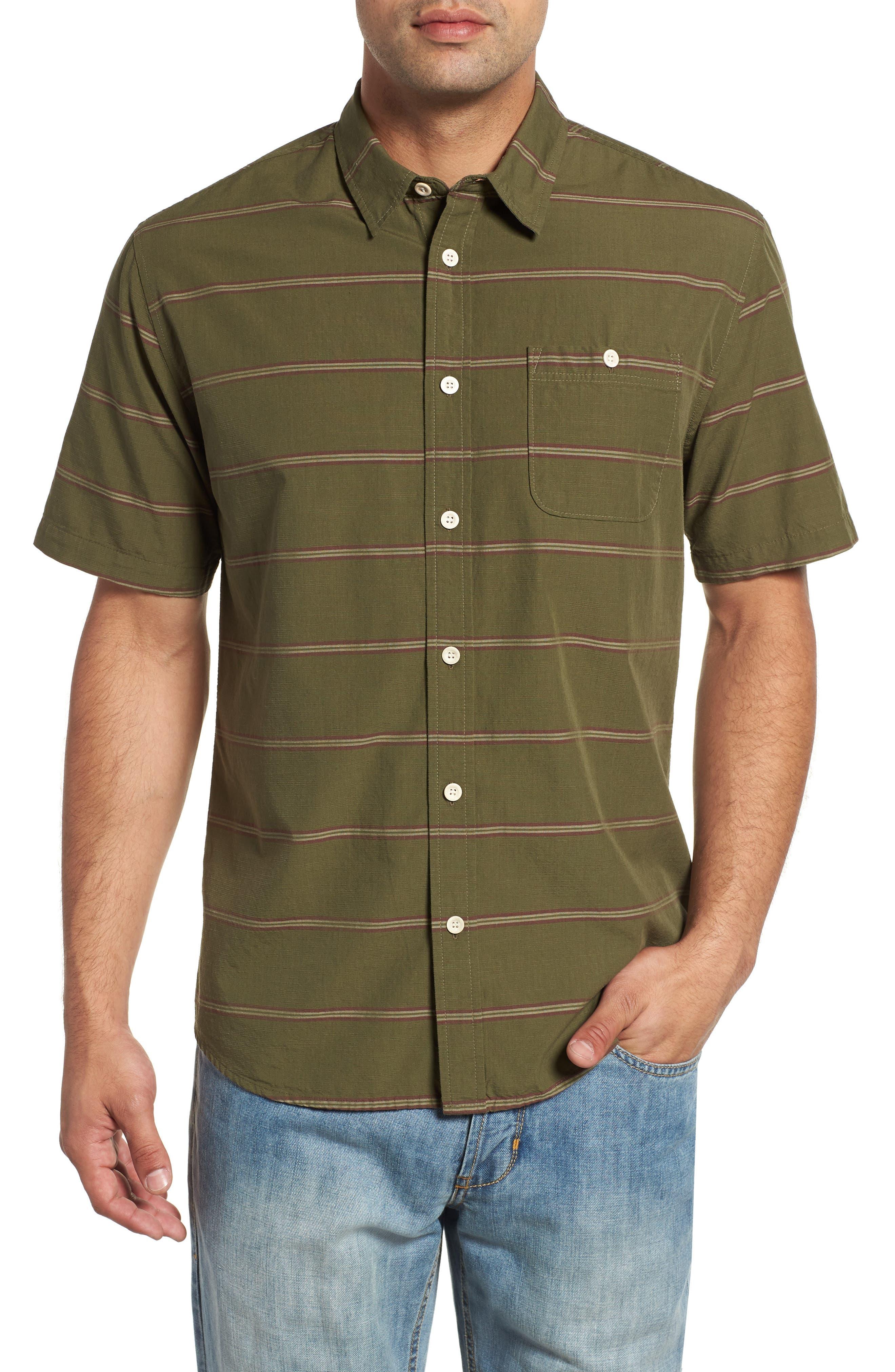 Last Dawn Regular Fit Stripe Sport Shirt, Main, color, 300