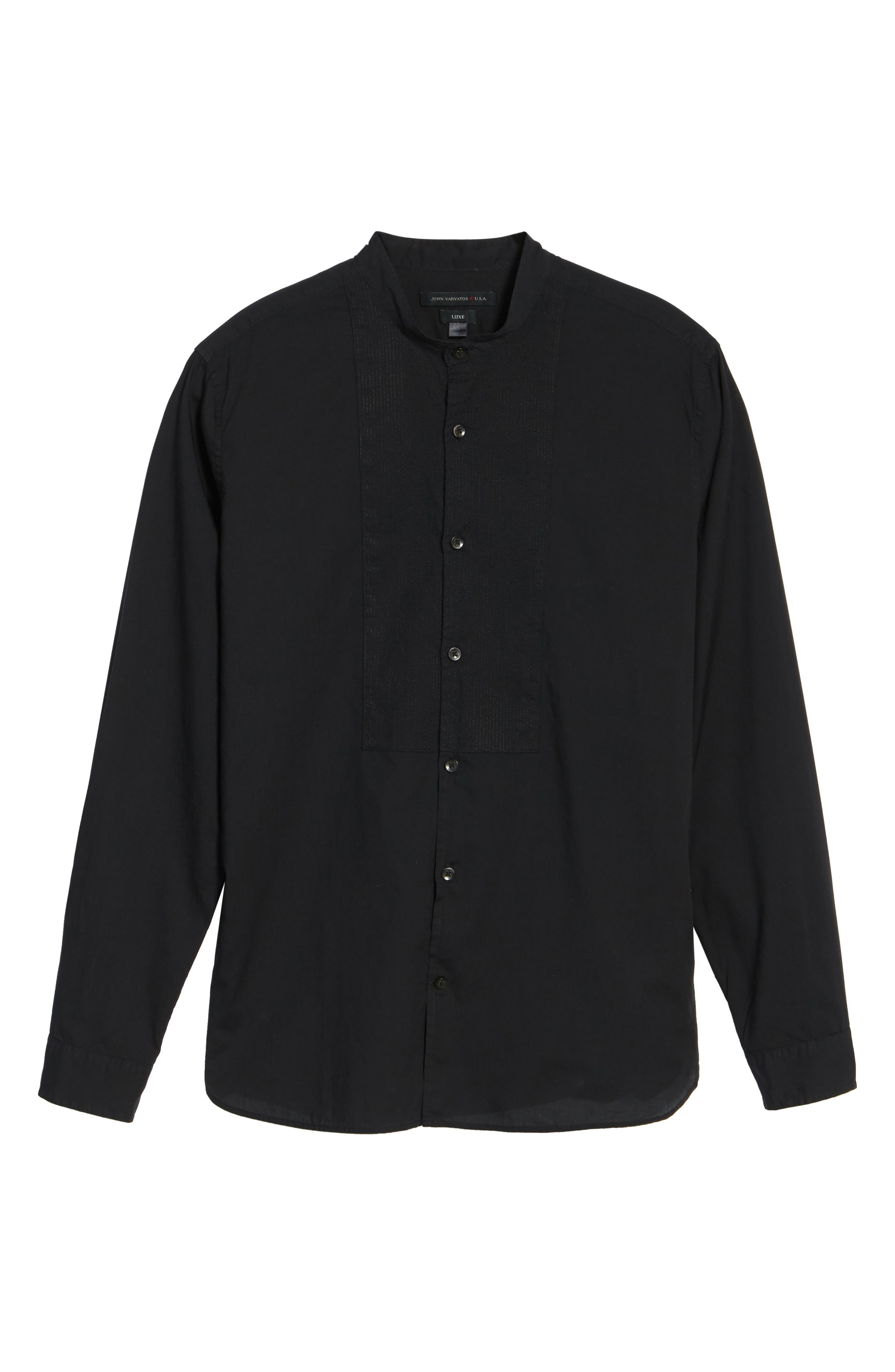 Trim Fit Bib Front Sport Shirt,                             Alternate thumbnail 6, color,                             001