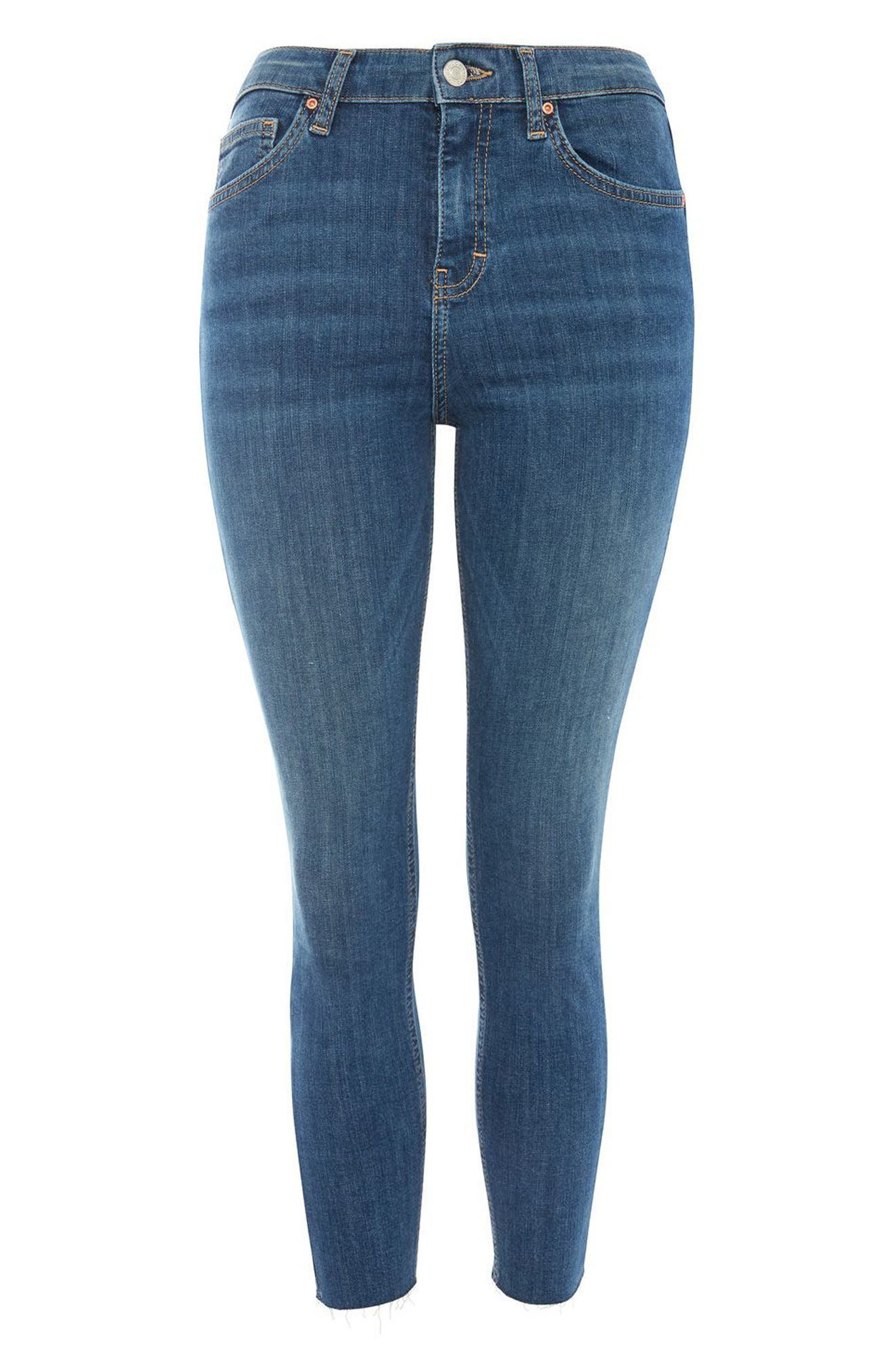 Jamie Raw Hem Crop Skinny Jeans,                             Alternate thumbnail 3, color,                             400