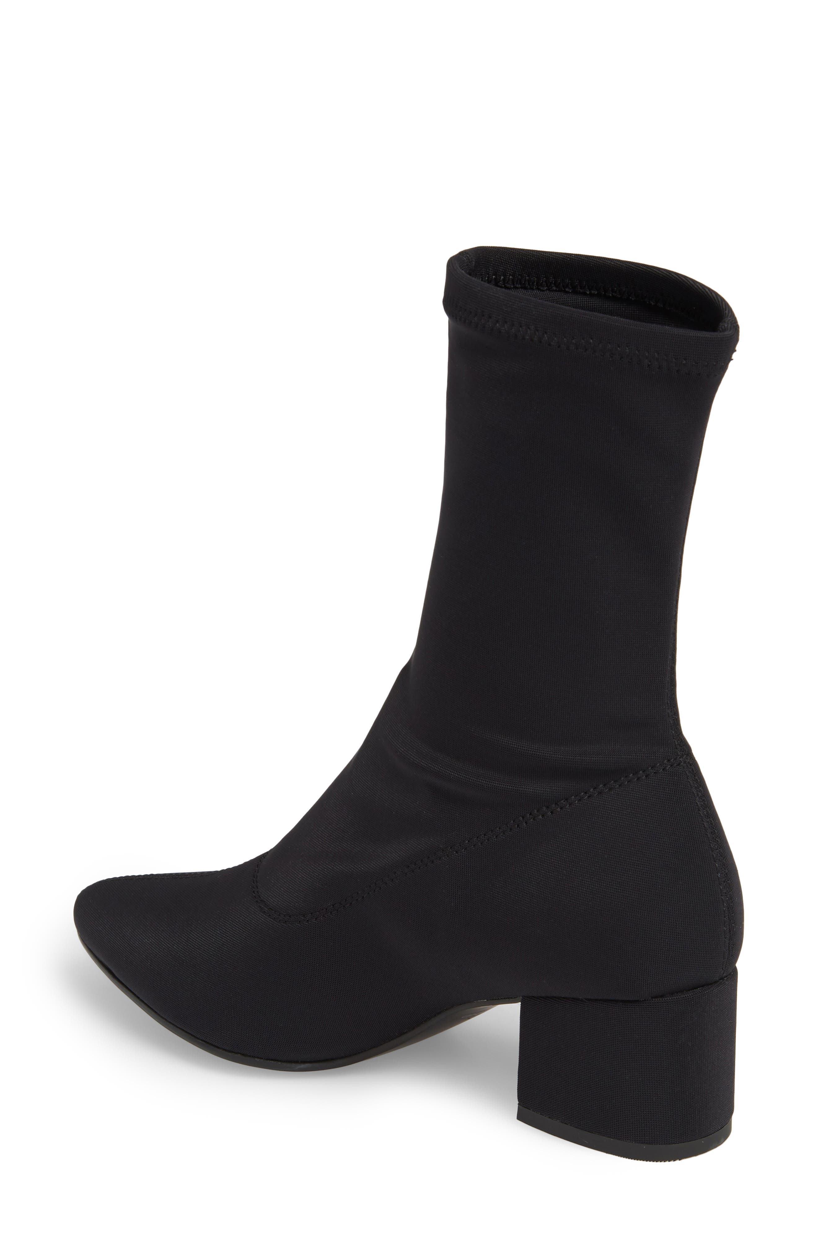 Shoemakers Maya Stretch Bootie,                             Alternate thumbnail 2, color,                             BLACK FABRIC