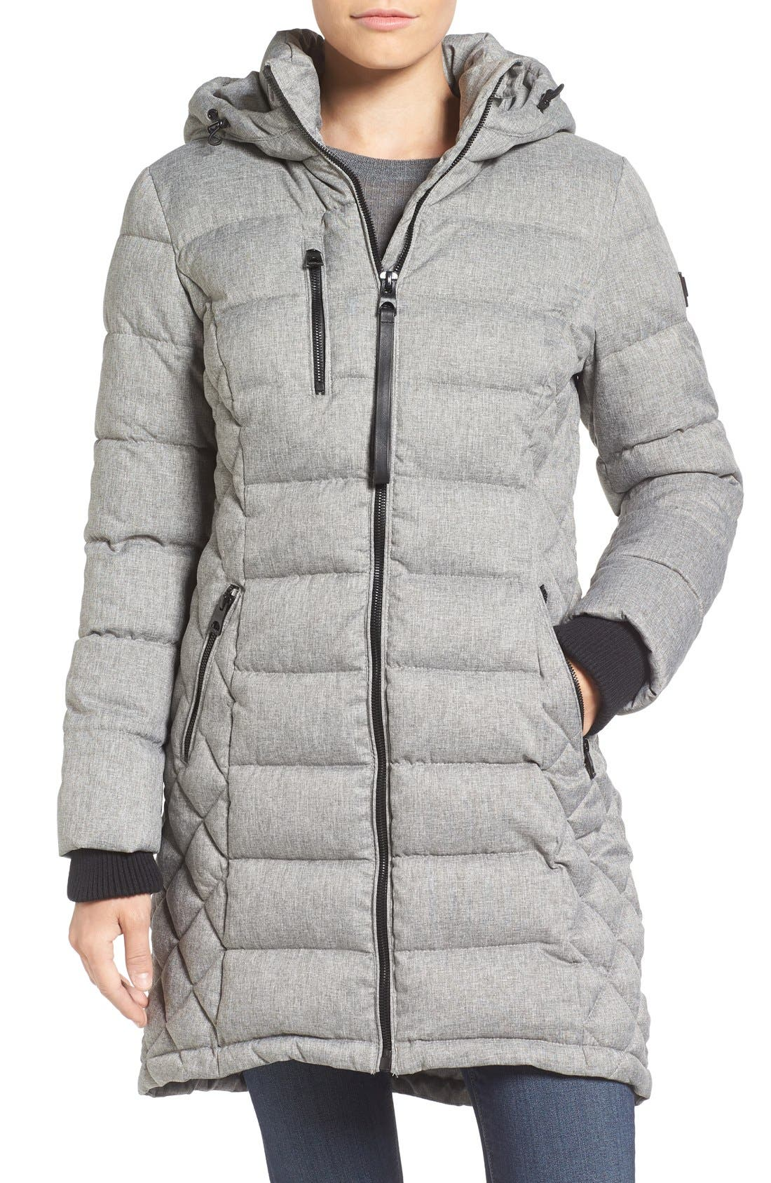 Quilted Hooded Puffer Coat,                             Main thumbnail 2, color,