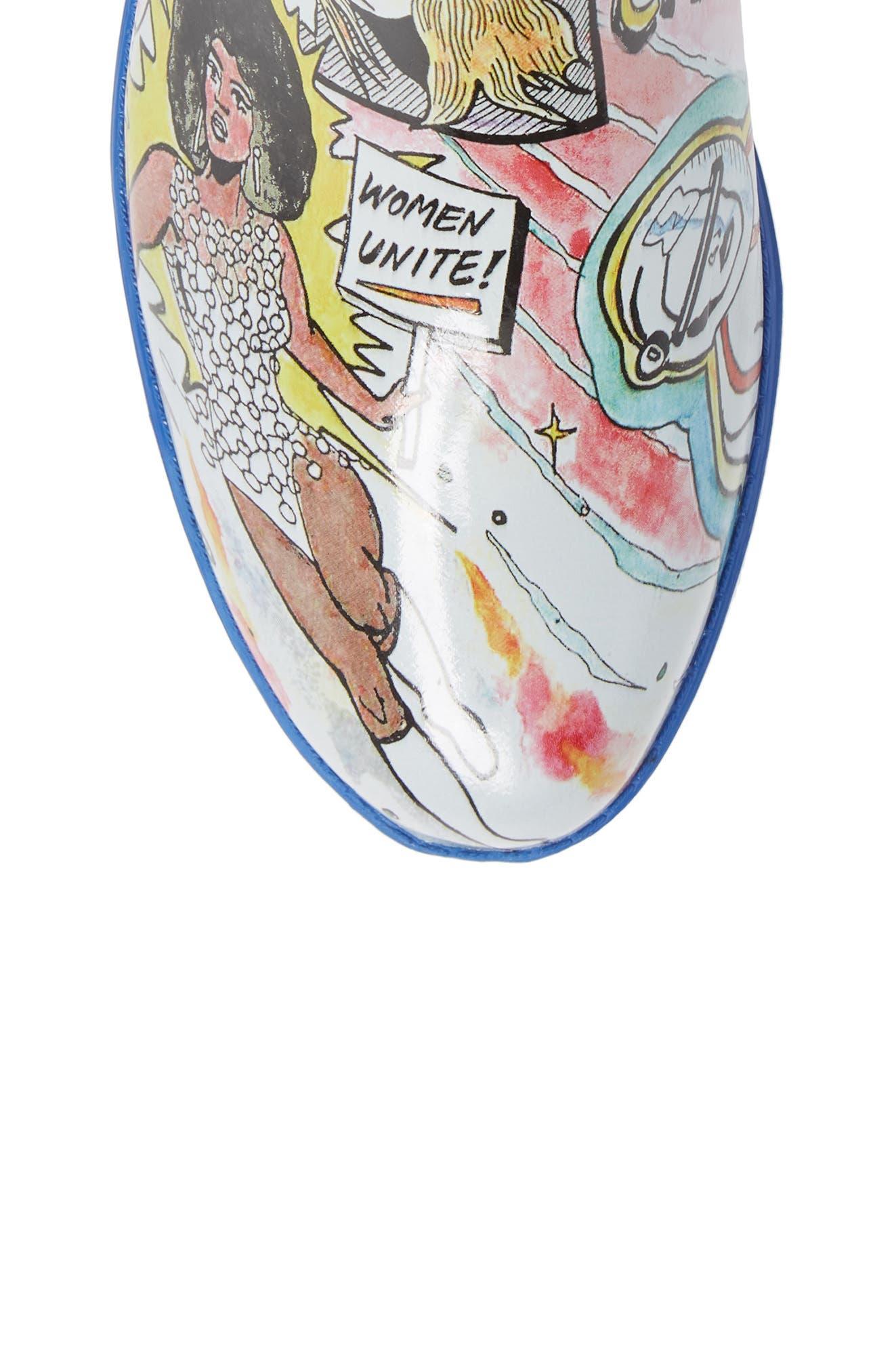 Cloudy Chelsea Rain Boot,                             Alternate thumbnail 5, color,                             COMIC PRINT
