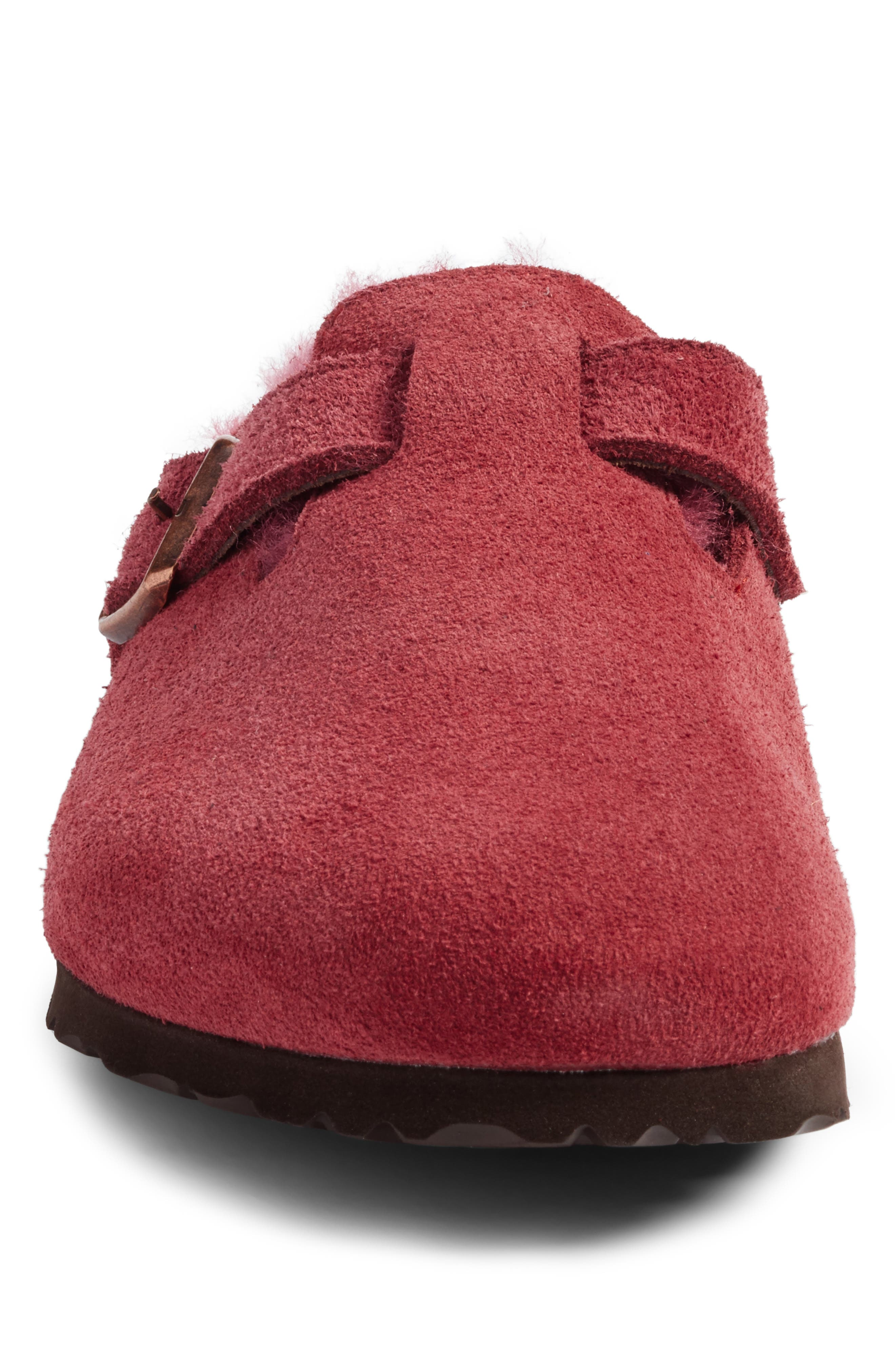 Boston Genuine Shearling Lined Clog,                             Alternate thumbnail 4, color,                             930