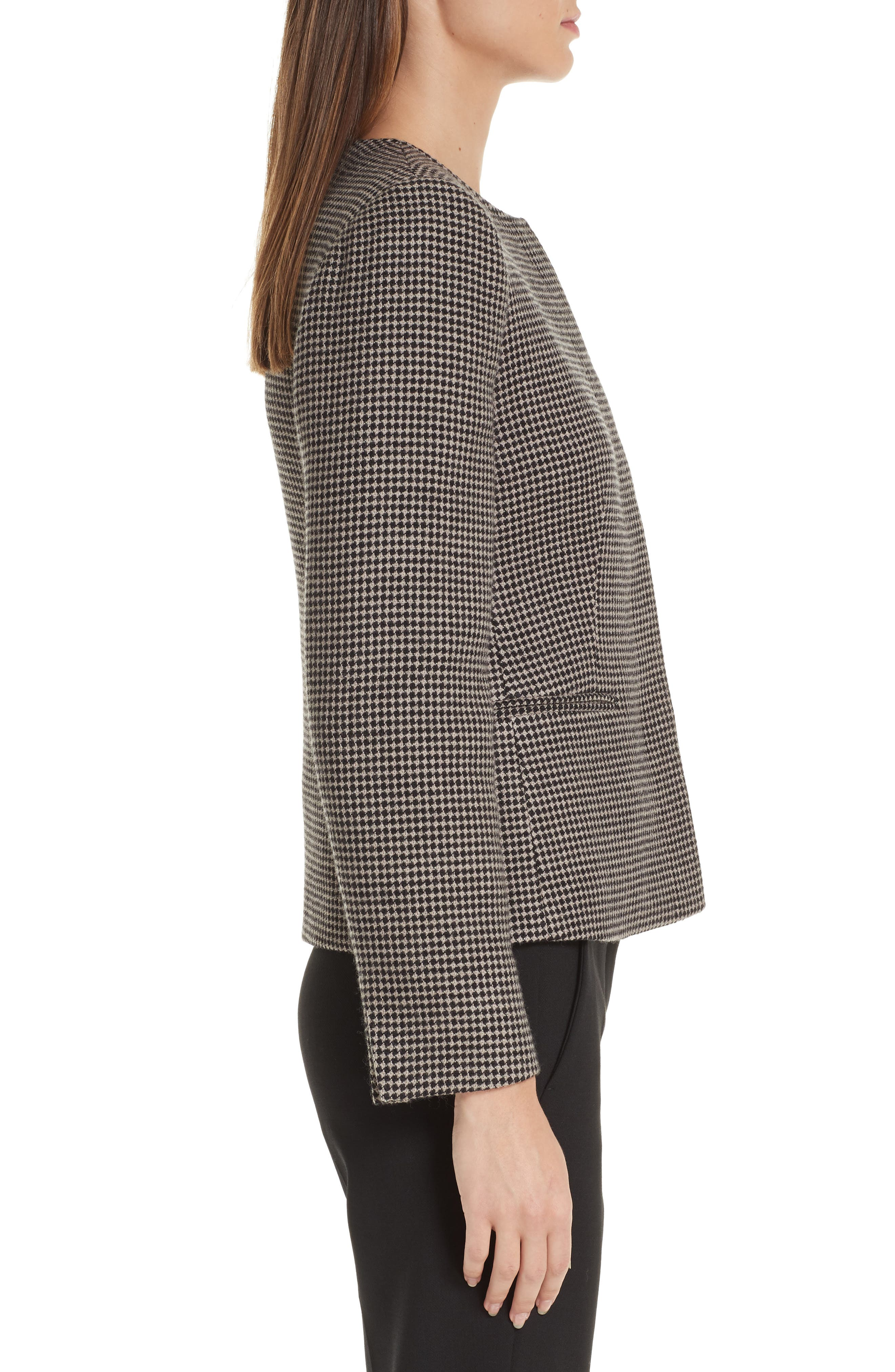 Spigola Wool & Cashmere Jacket,                             Alternate thumbnail 3, color,                             TURTLEDOVE