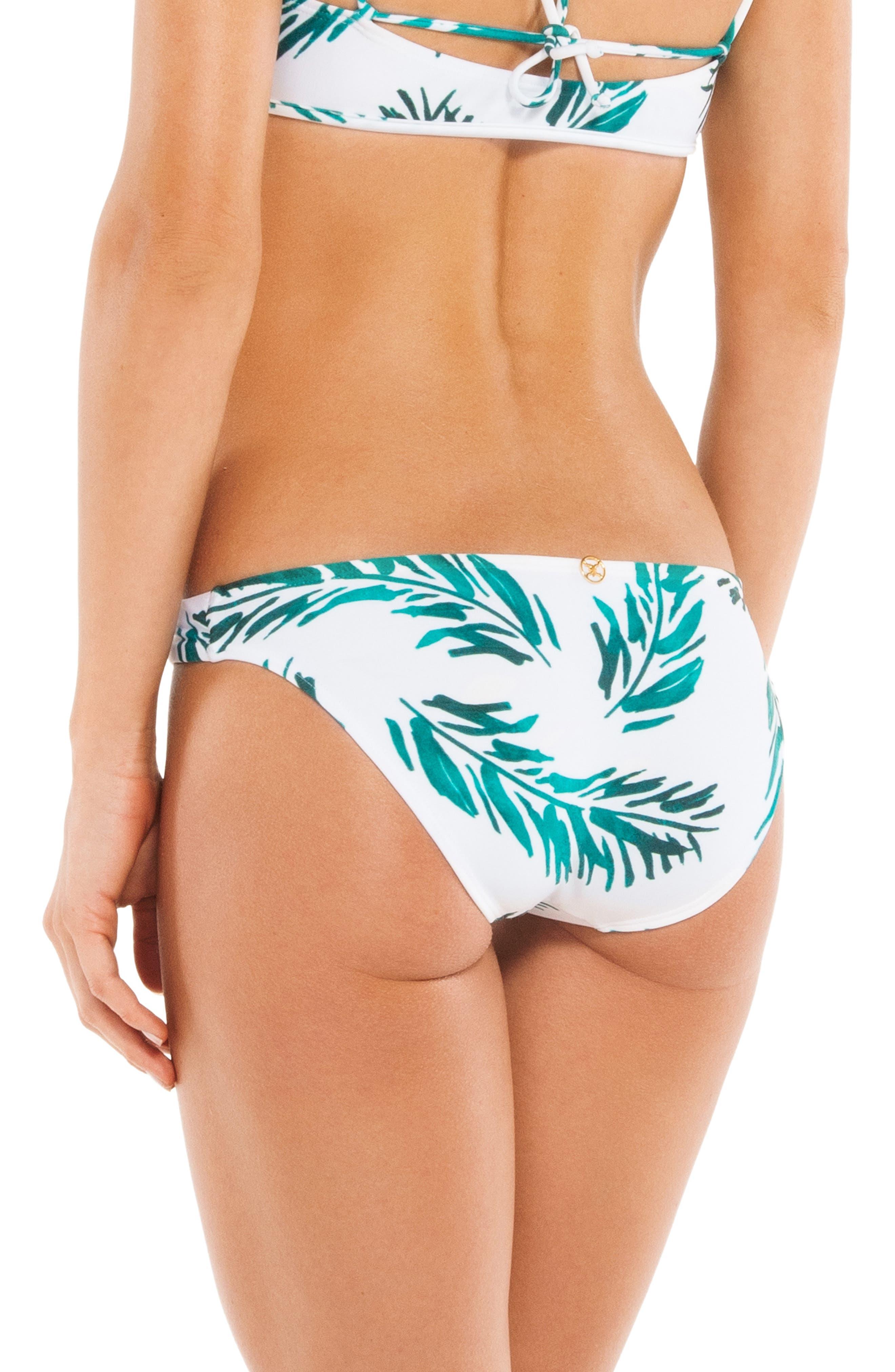 Tulum Print Bikini Bottoms,                             Alternate thumbnail 2, color,                             100