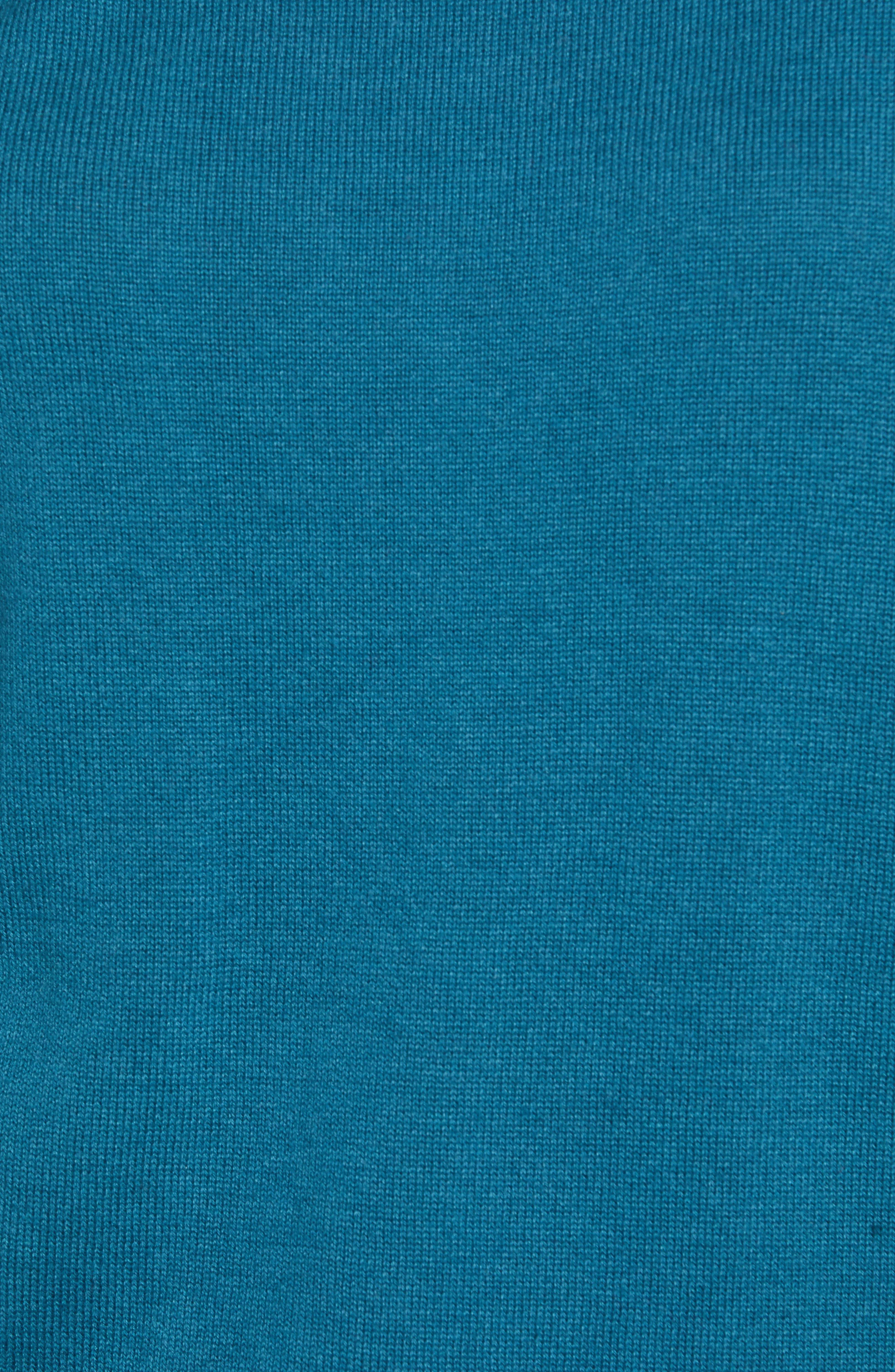 Zip Back High/Low Tunic Sweater,                             Alternate thumbnail 5, color,                             TEAL CORAL