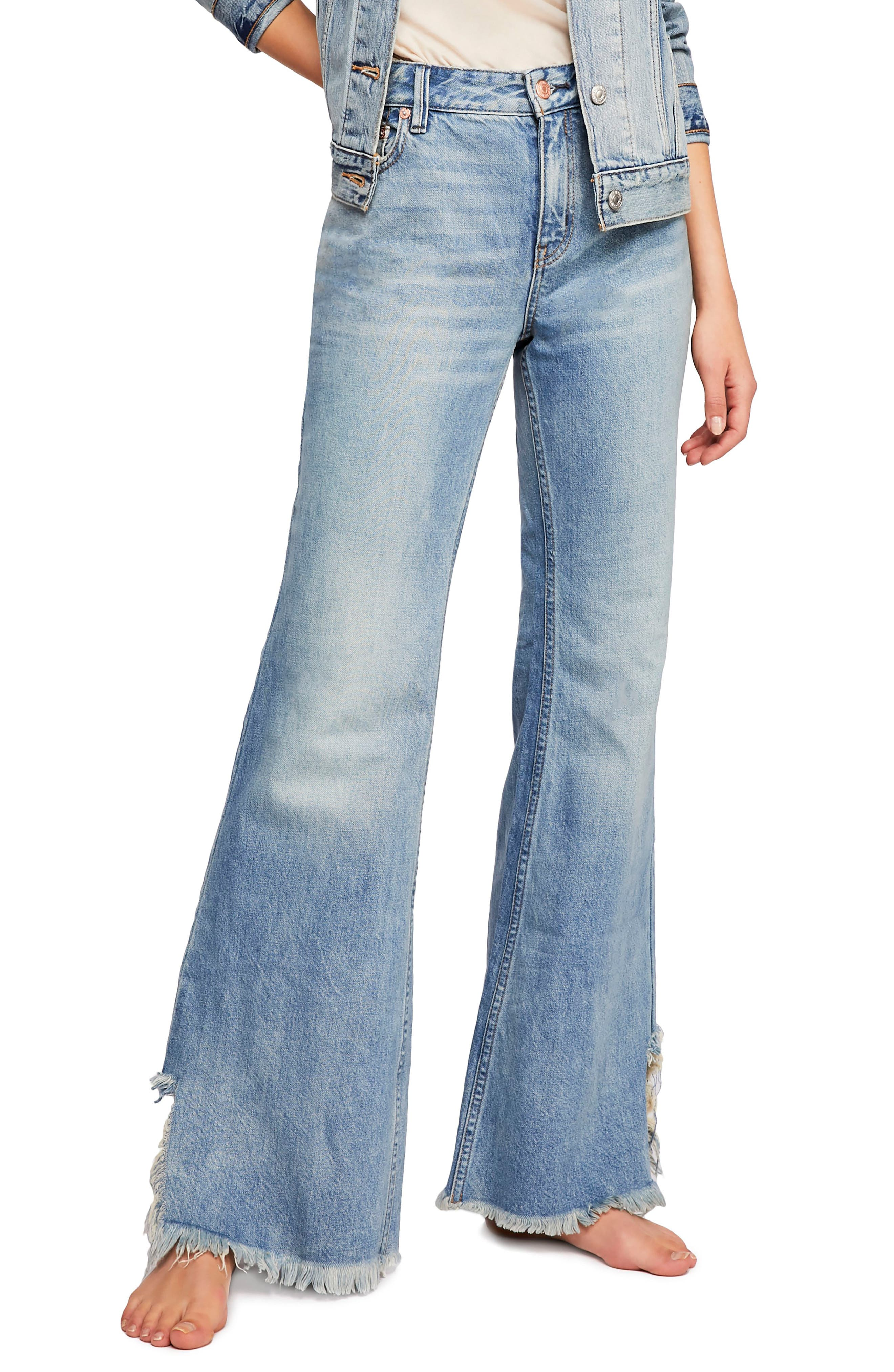 Vintage High Waisted Trousers, Sailor Pants, Jeans Womens Free People Vintage Flare Jeans $46.80 AT vintagedancer.com