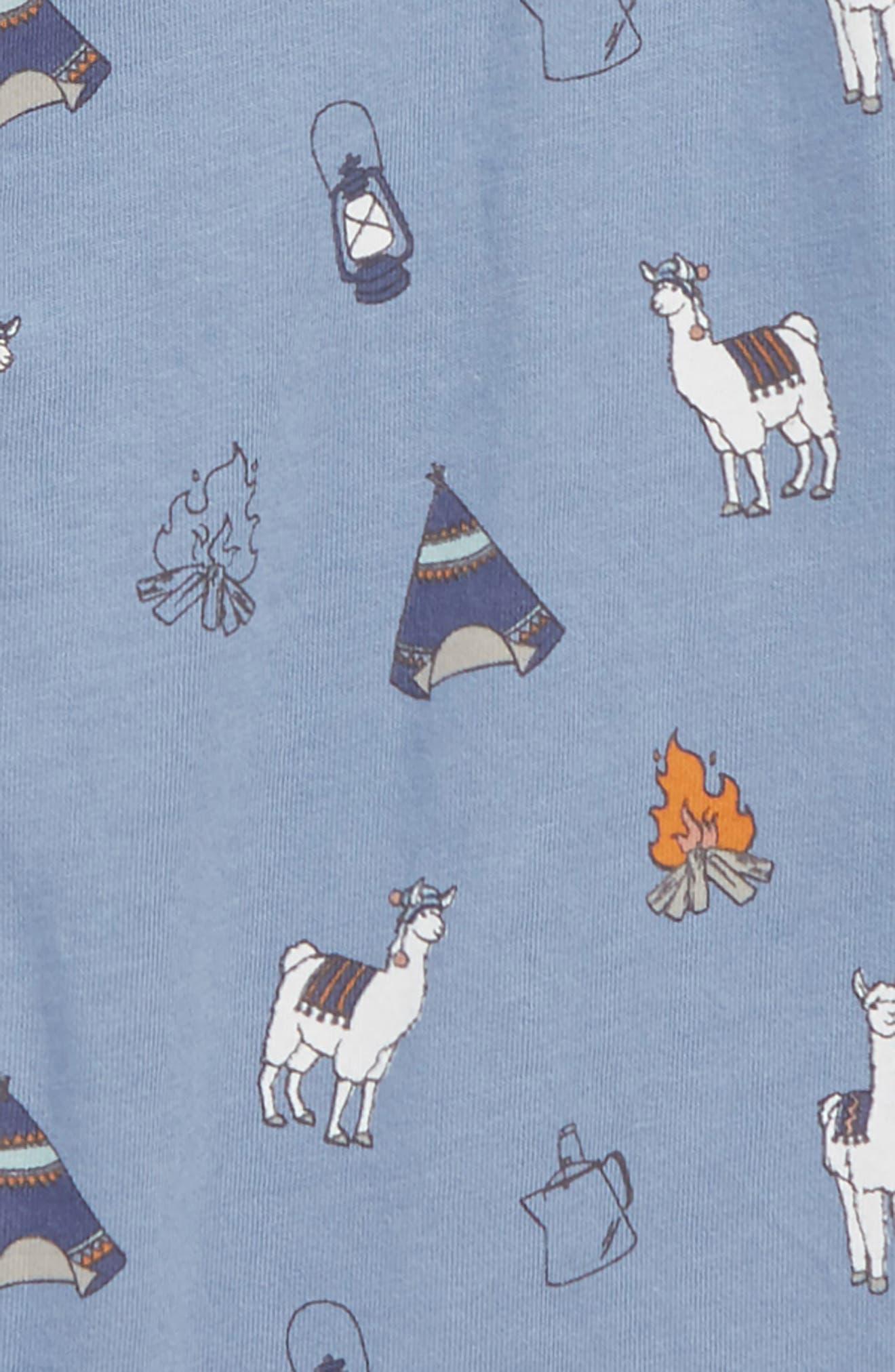 Peek Llama Romper,                             Alternate thumbnail 2, color,                             BLUE