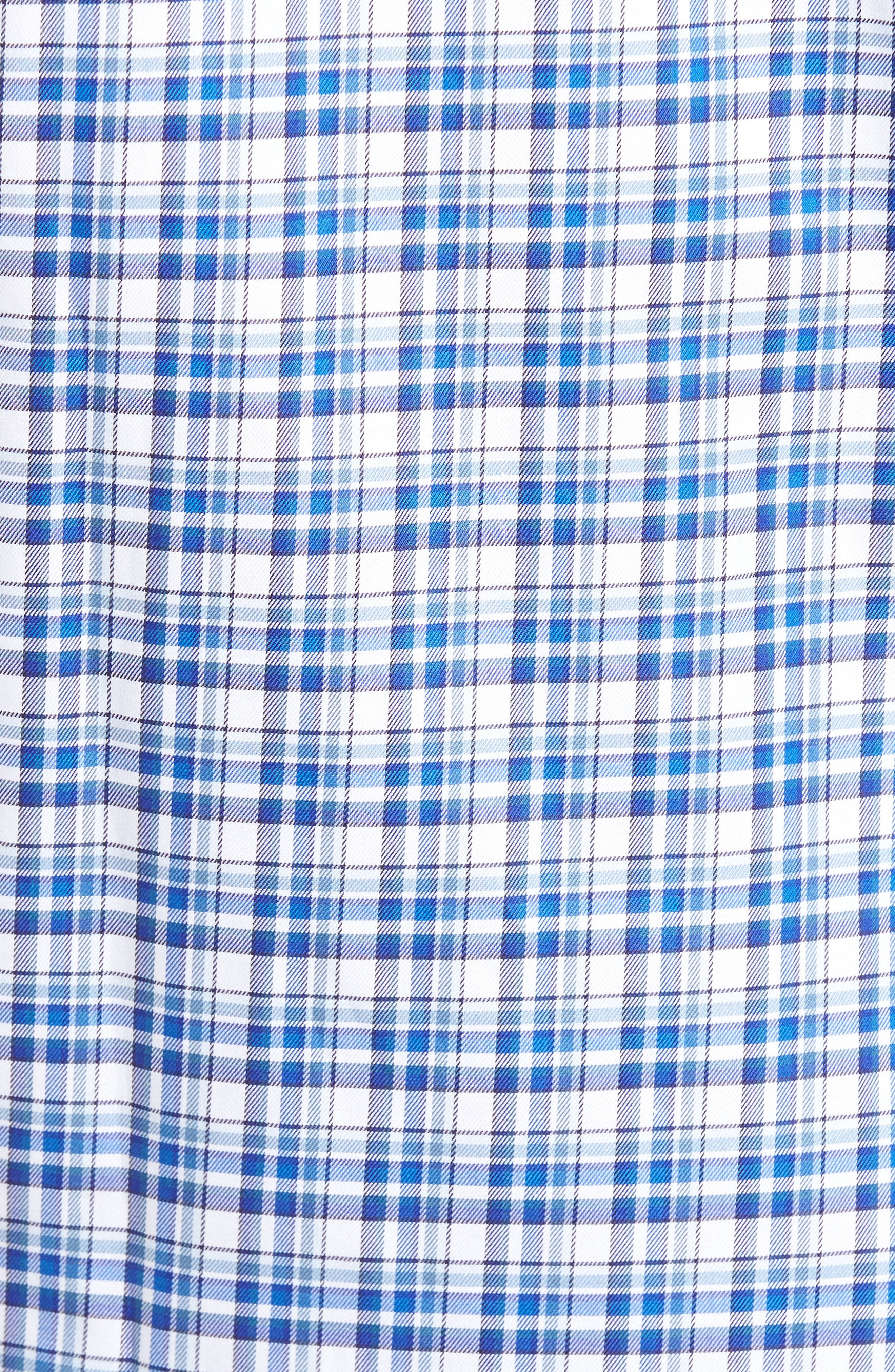 Anderson Classic Fit Plaid Micro Twill Sport Shirt,                             Alternate thumbnail 5, color,                             417