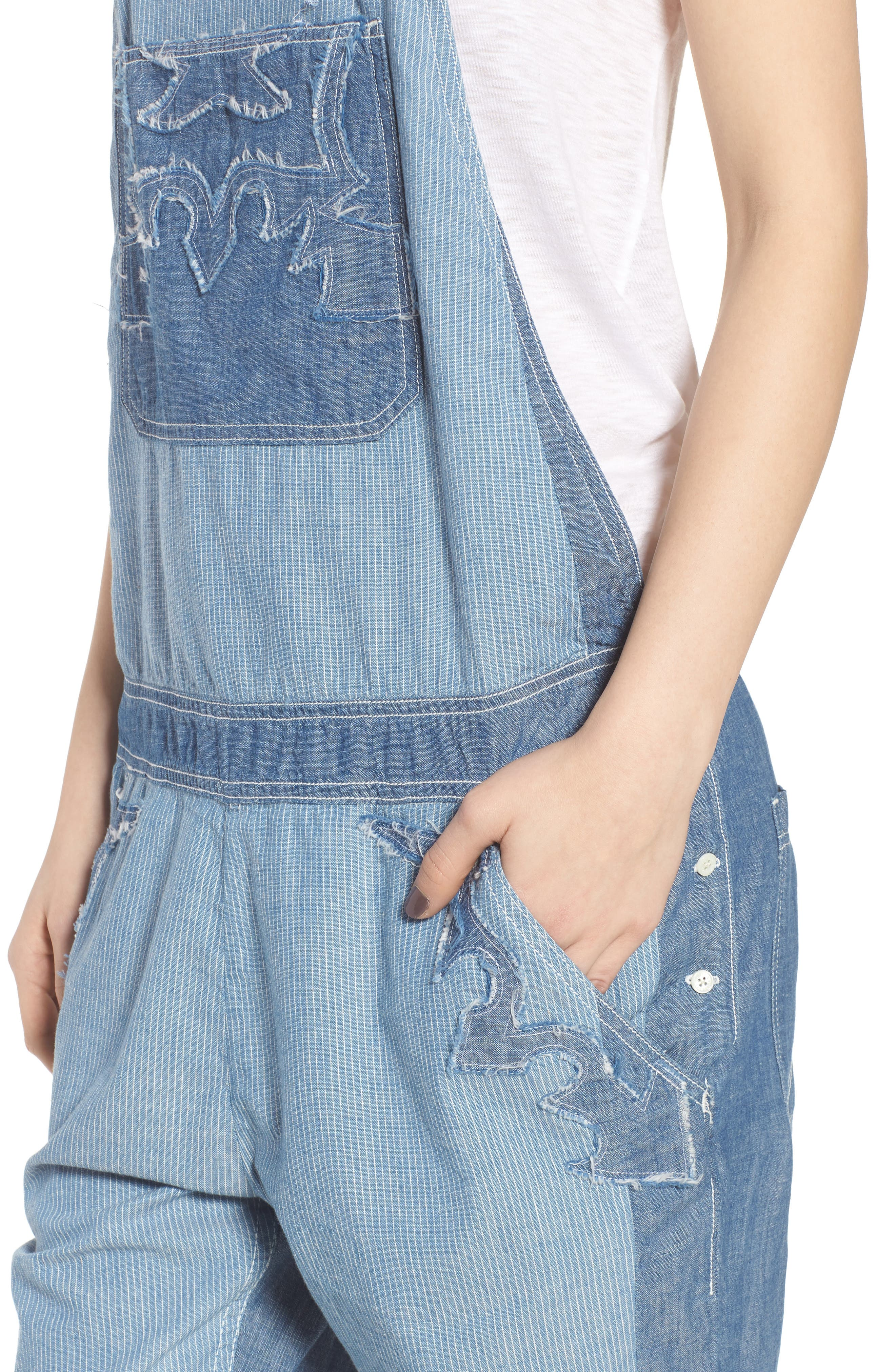 Sidney Patch Overalls,                             Alternate thumbnail 4, color,                             465