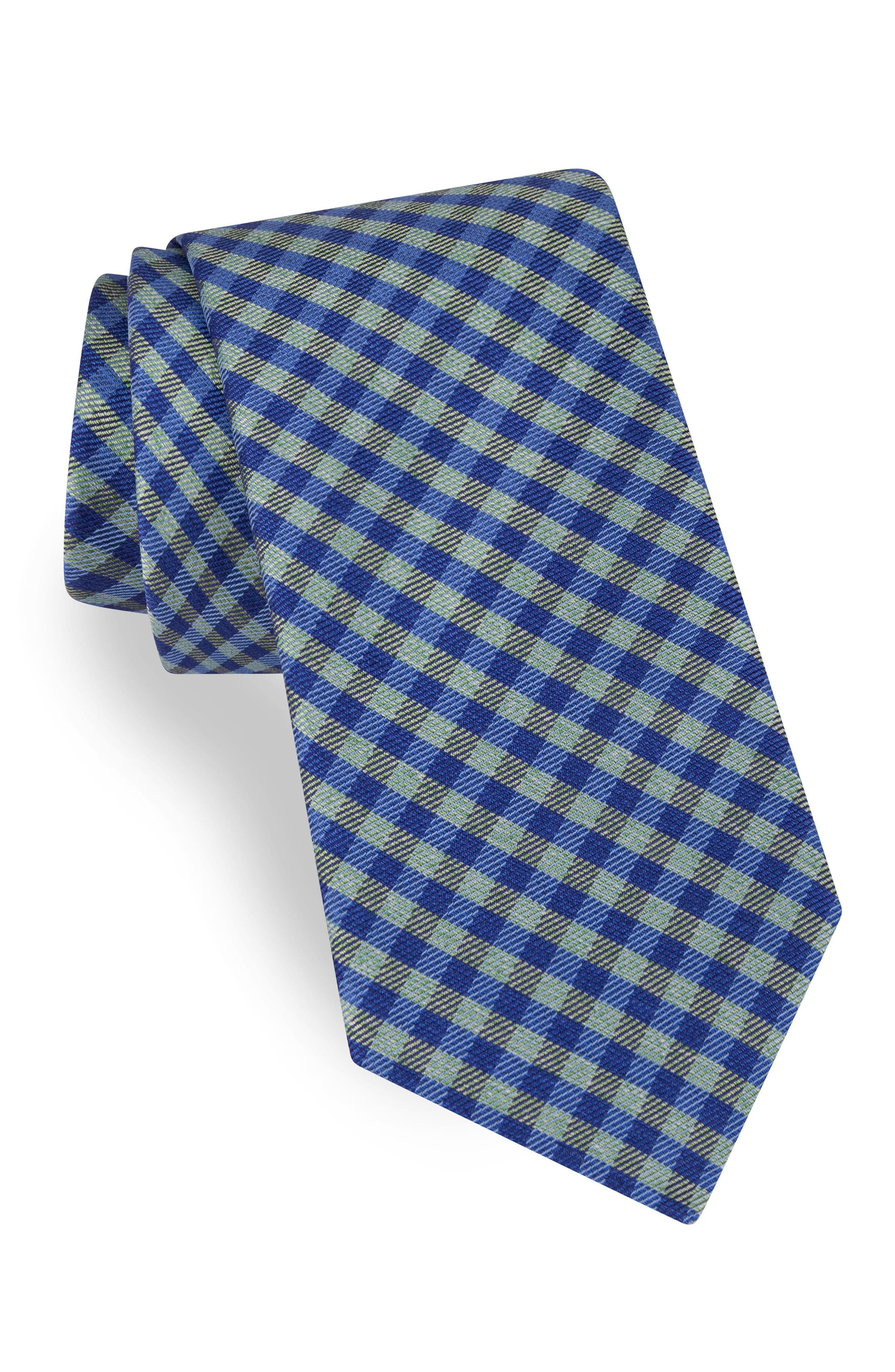 Grid Silk Tie,                         Main,                         color, 300
