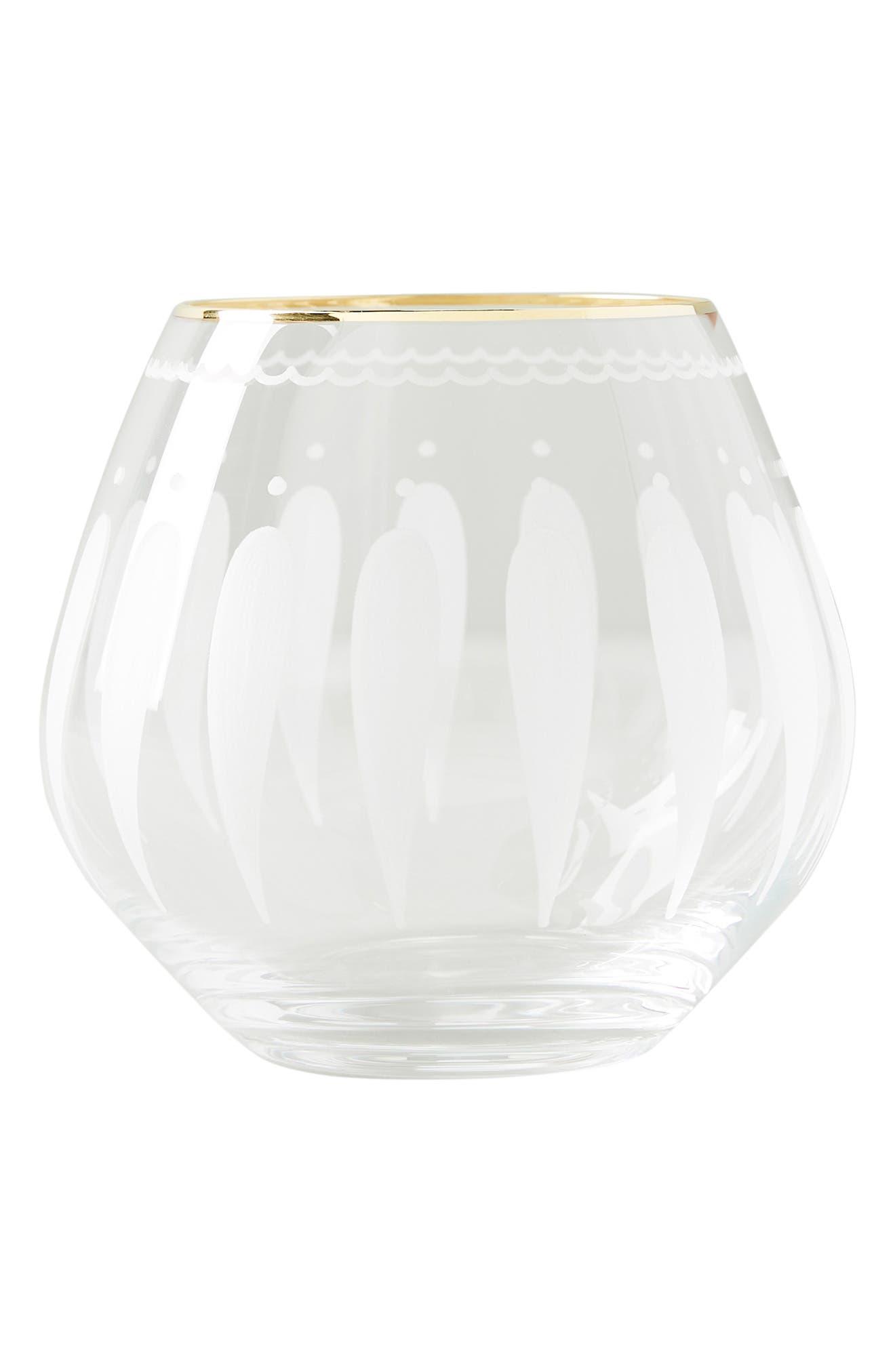 Odele Set of 4 Stemless Wine Glasses,                             Alternate thumbnail 4, color,                             CLEAR