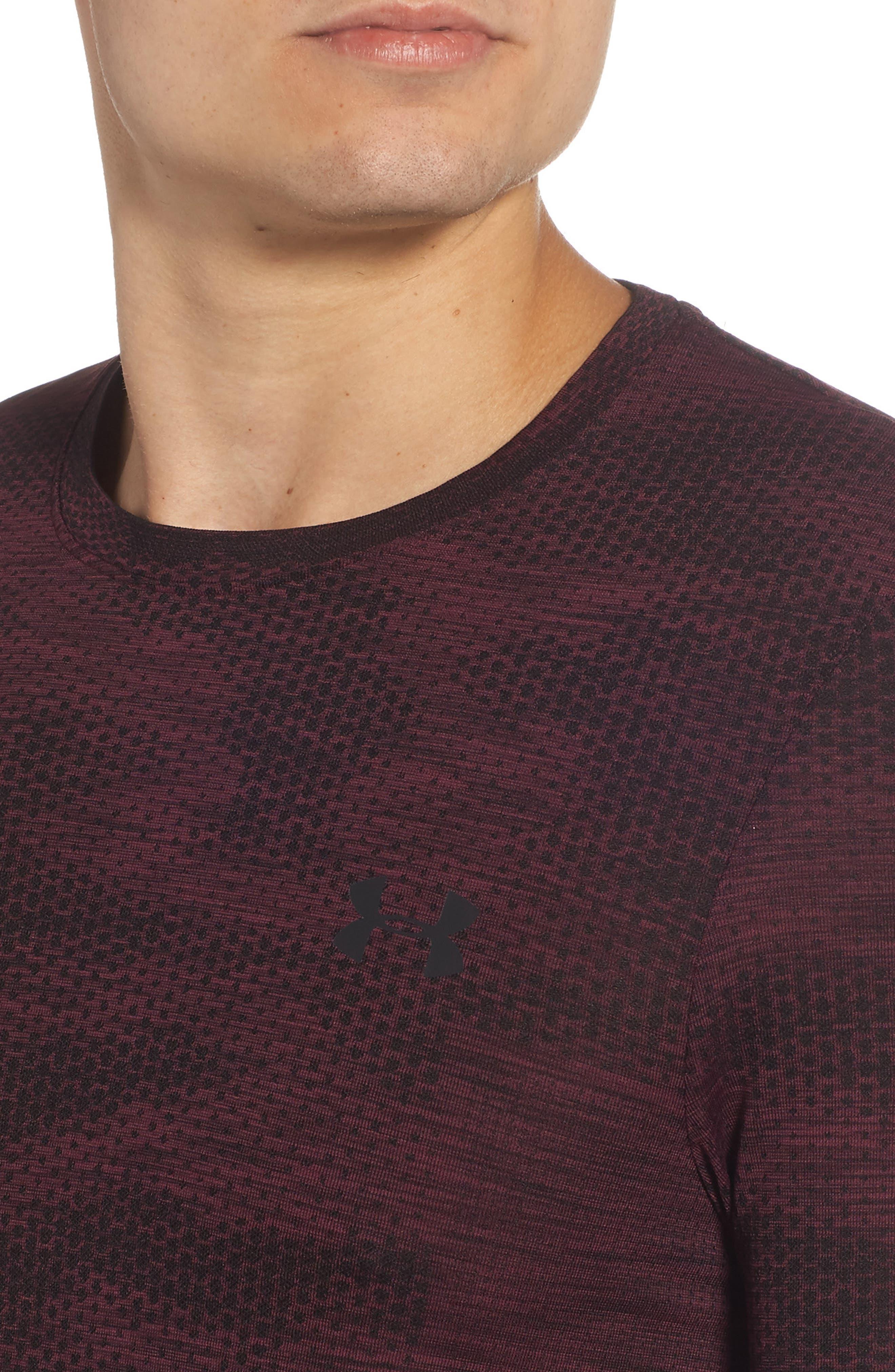 Siphon Camo Print Performance T-Shirt,                             Alternate thumbnail 4, color,                             DARK MAROON