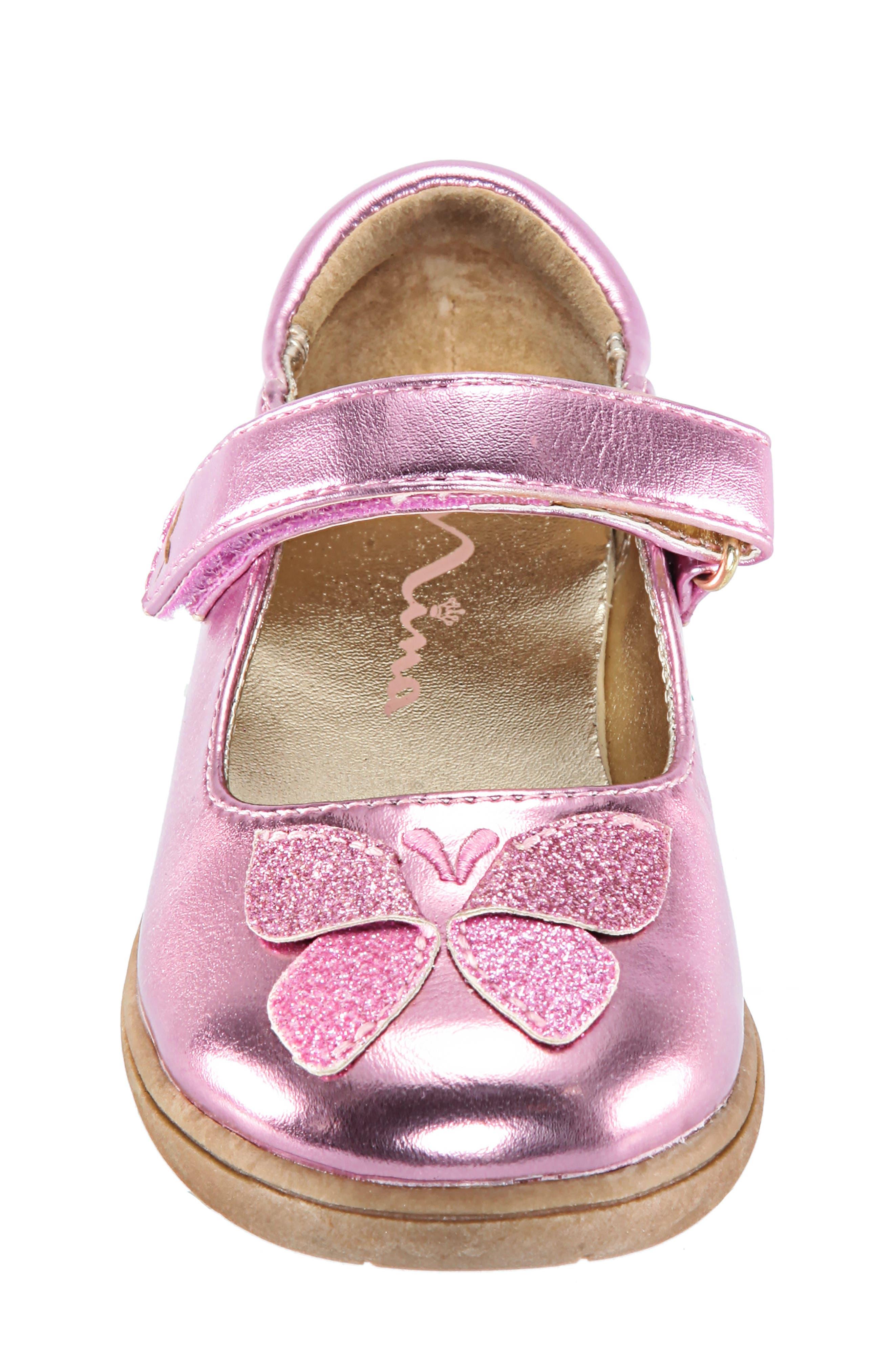 Alysha Glitter Mary Jane,                             Alternate thumbnail 4, color,                             PINK/ SMOOTH GLITTER