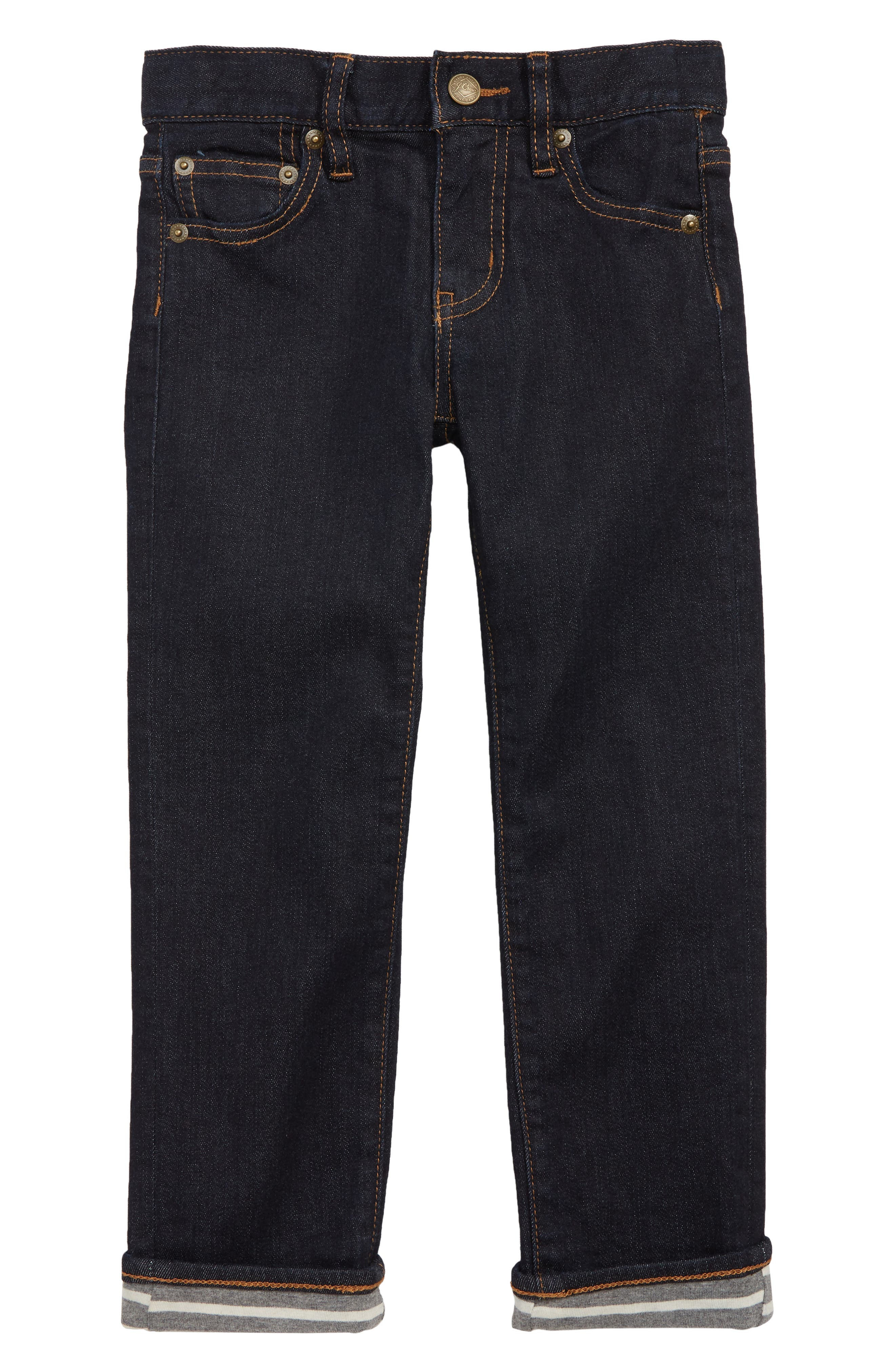 Runaround Slim Fit Lined Jeans,                             Main thumbnail 1, color,                             SKINNY RINSE