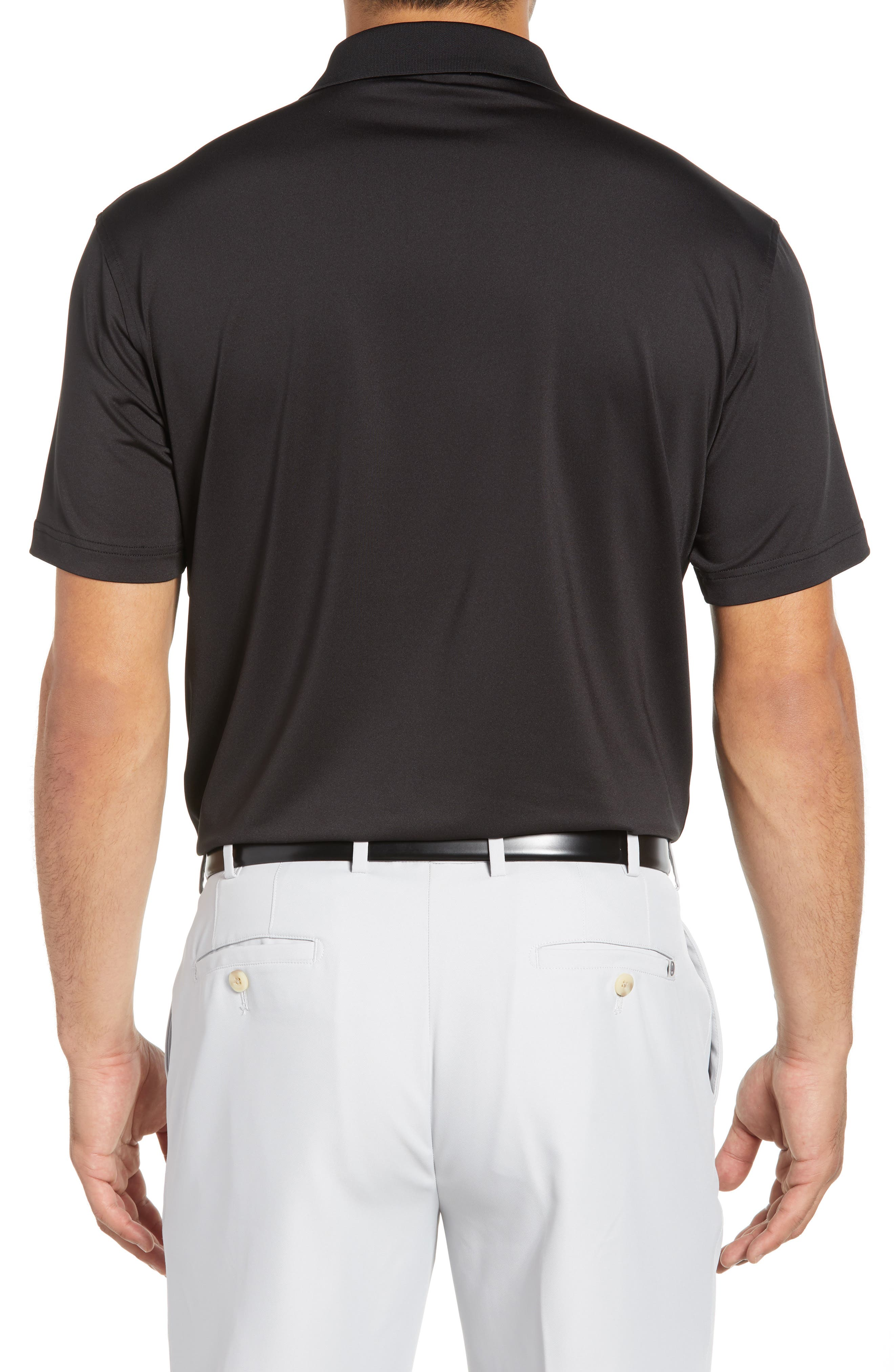 Stretch Jersey Performance Polo,                             Alternate thumbnail 2, color,                             BLACK