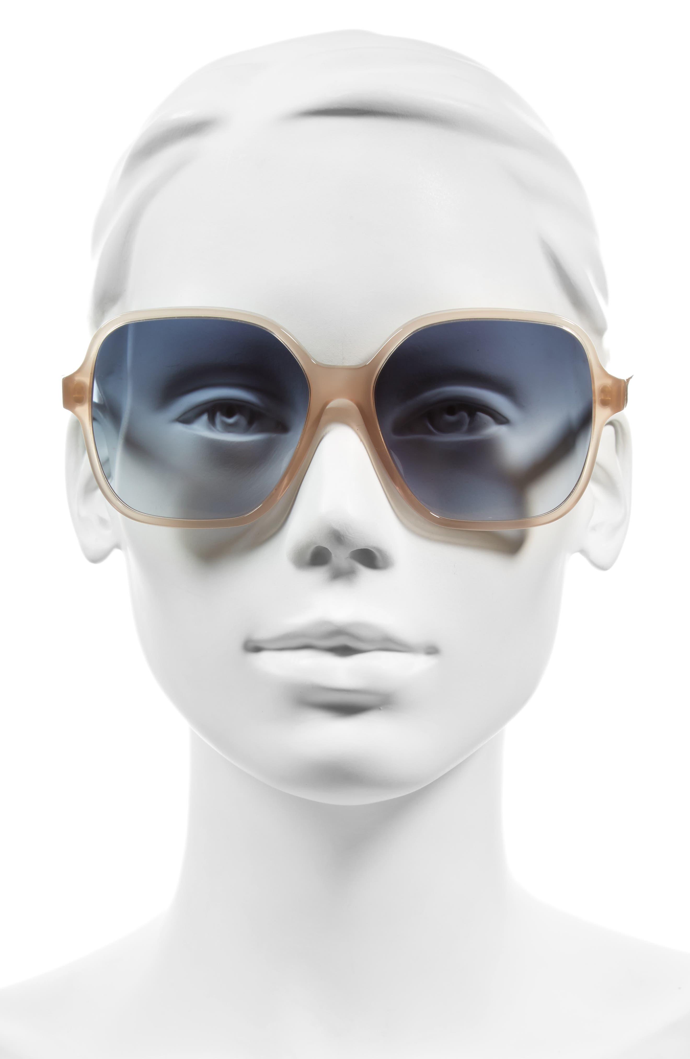 Iconic Square 59mm Sunglasses,                             Alternate thumbnail 6, color,