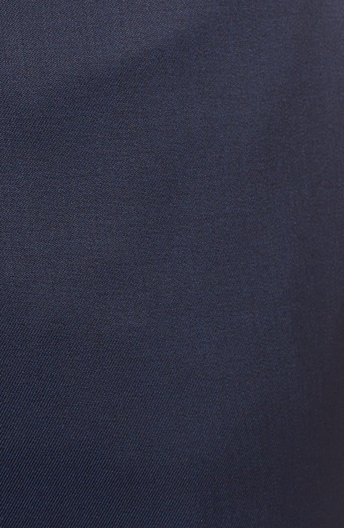'Pashion' Flat Front Wool & Mohair Trousers,                             Alternate thumbnail 3, color,                             410