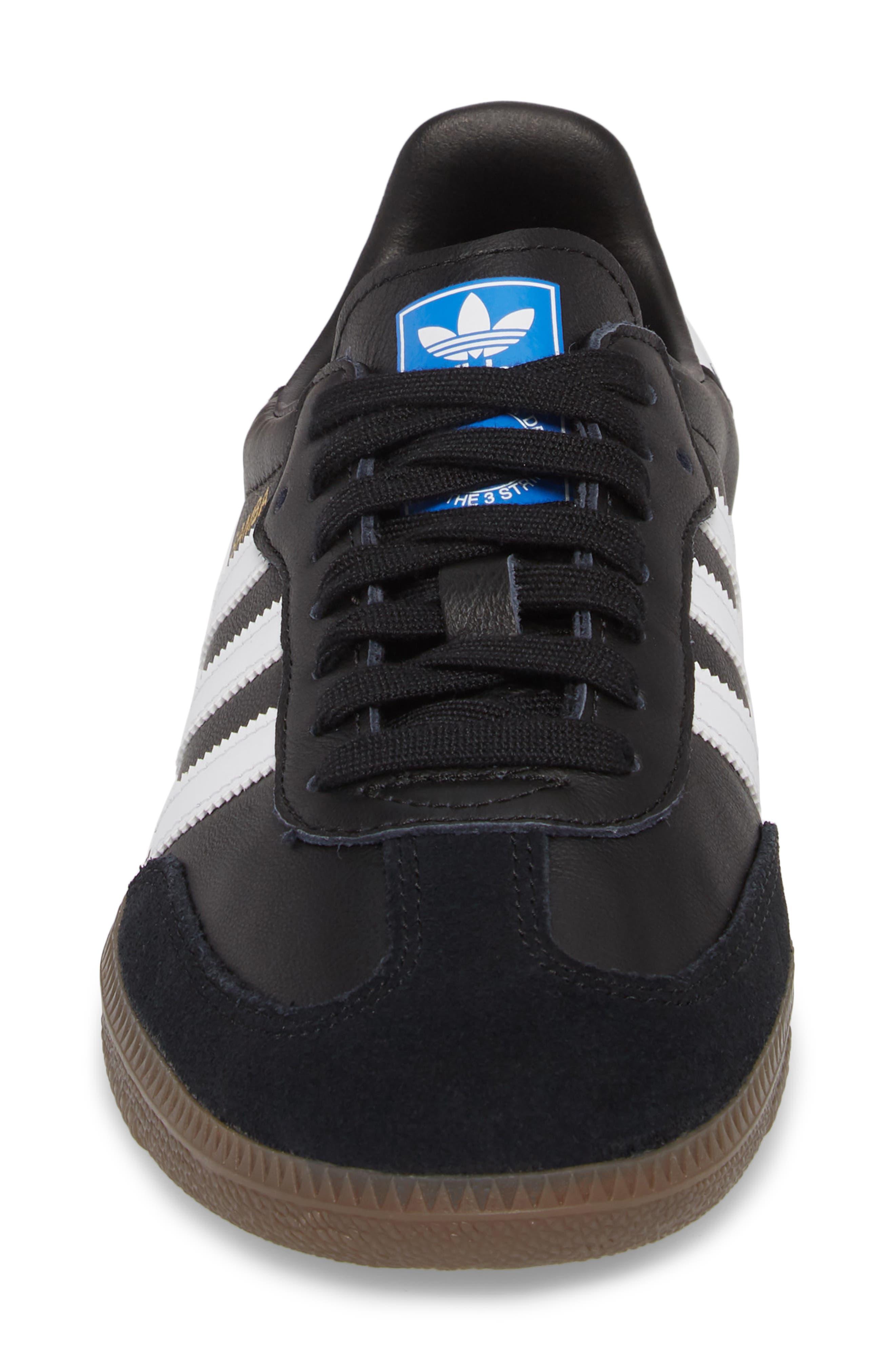 'Samba' Sneaker,                             Alternate thumbnail 4, color,                             BLACK/ WHITE/ GUM5