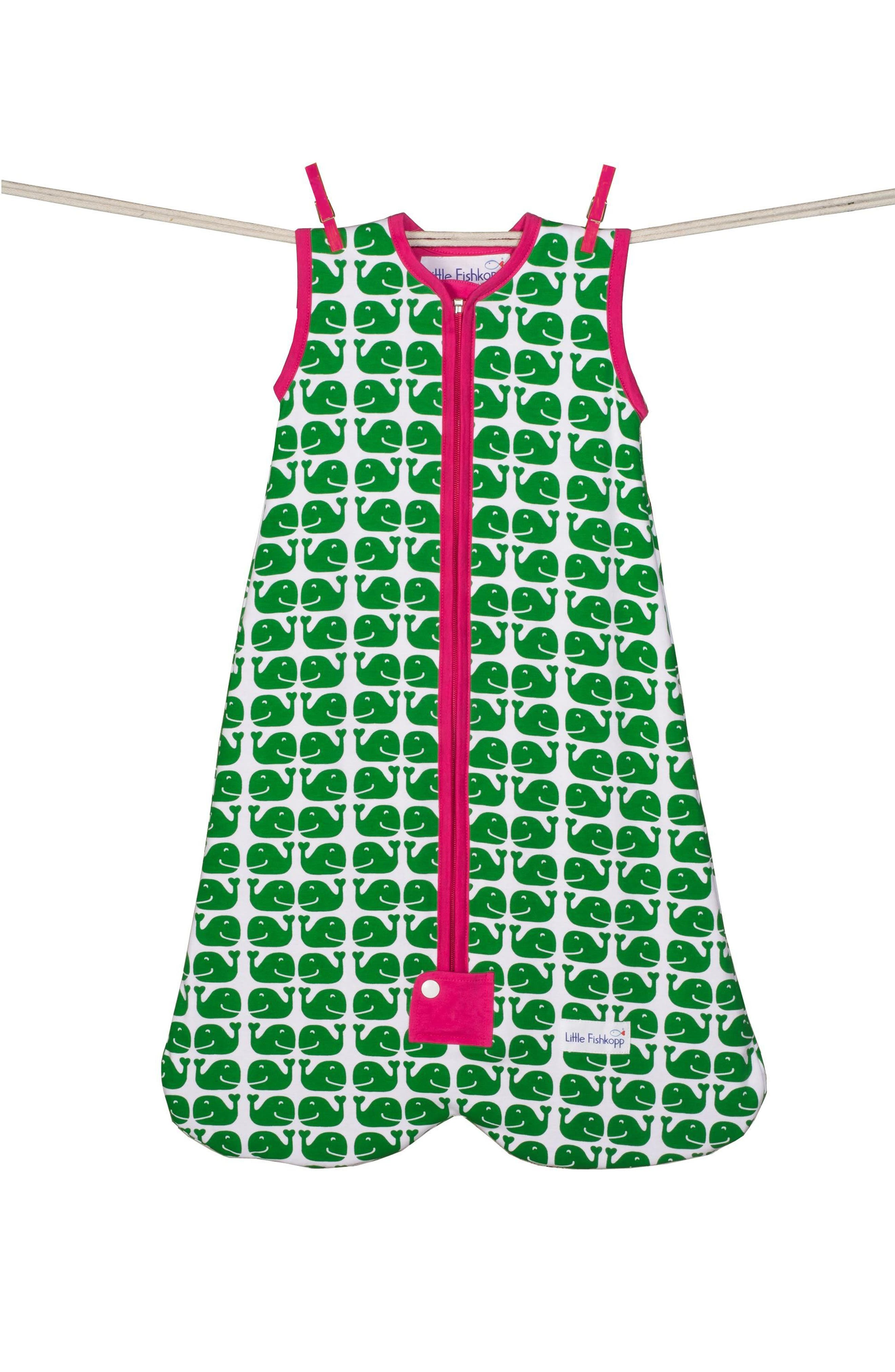 Whales Organic Cotton Wearable Blanket,                             Main thumbnail 1, color,                             300