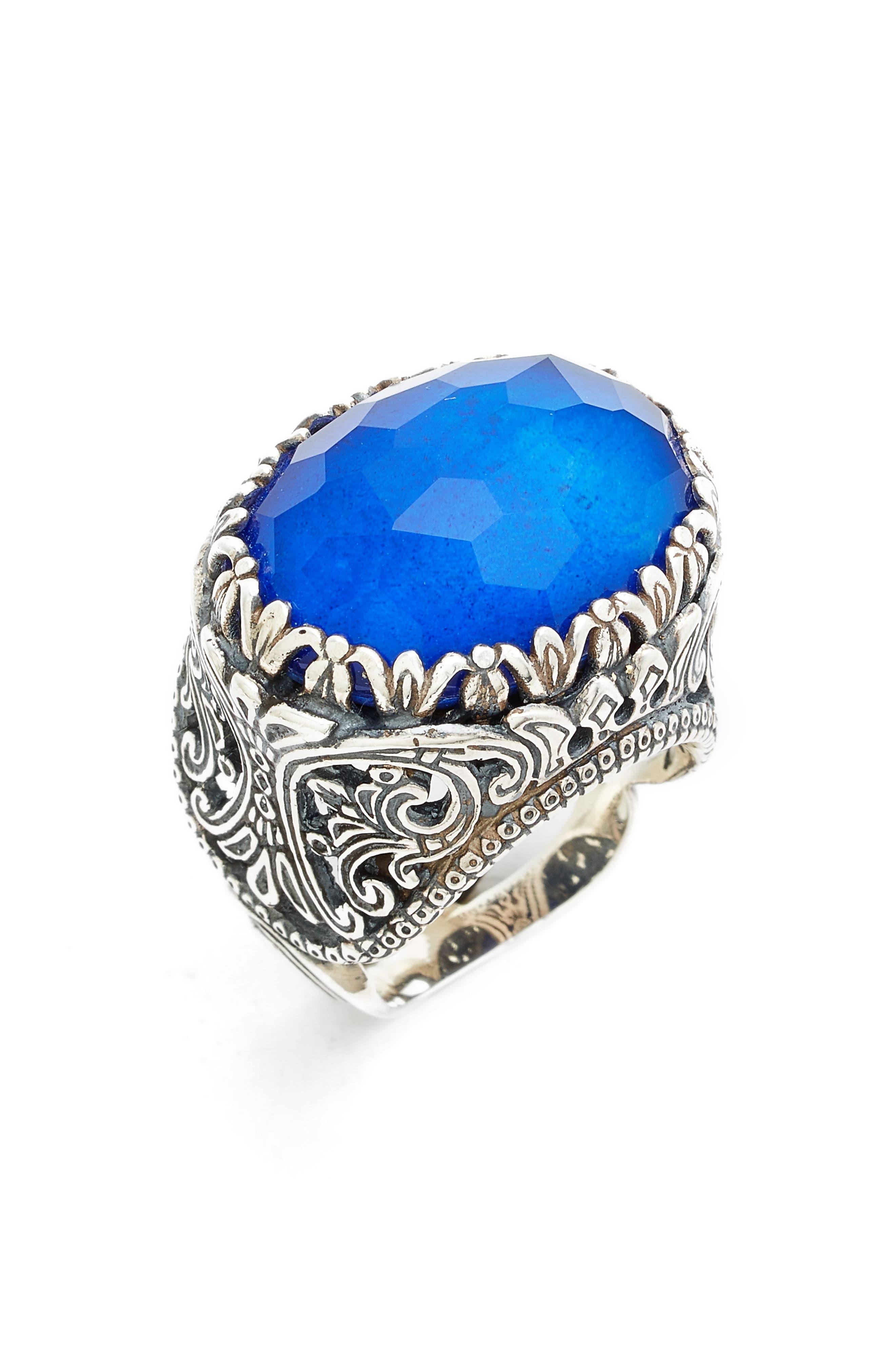 Andromeda Lapis Lazuli Ring,                             Alternate thumbnail 2, color,                             STERLING SILVER