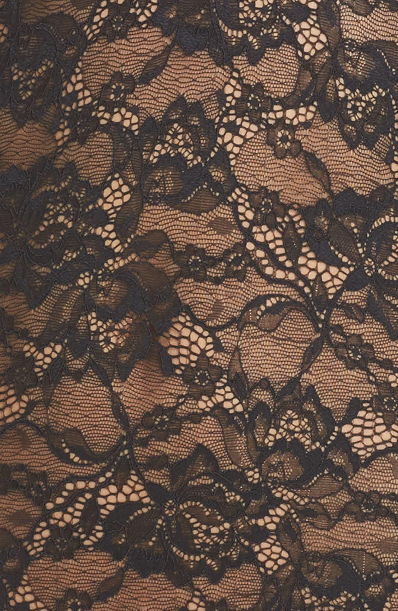 Lace Bodysuit,                             Alternate thumbnail 4, color,                             001