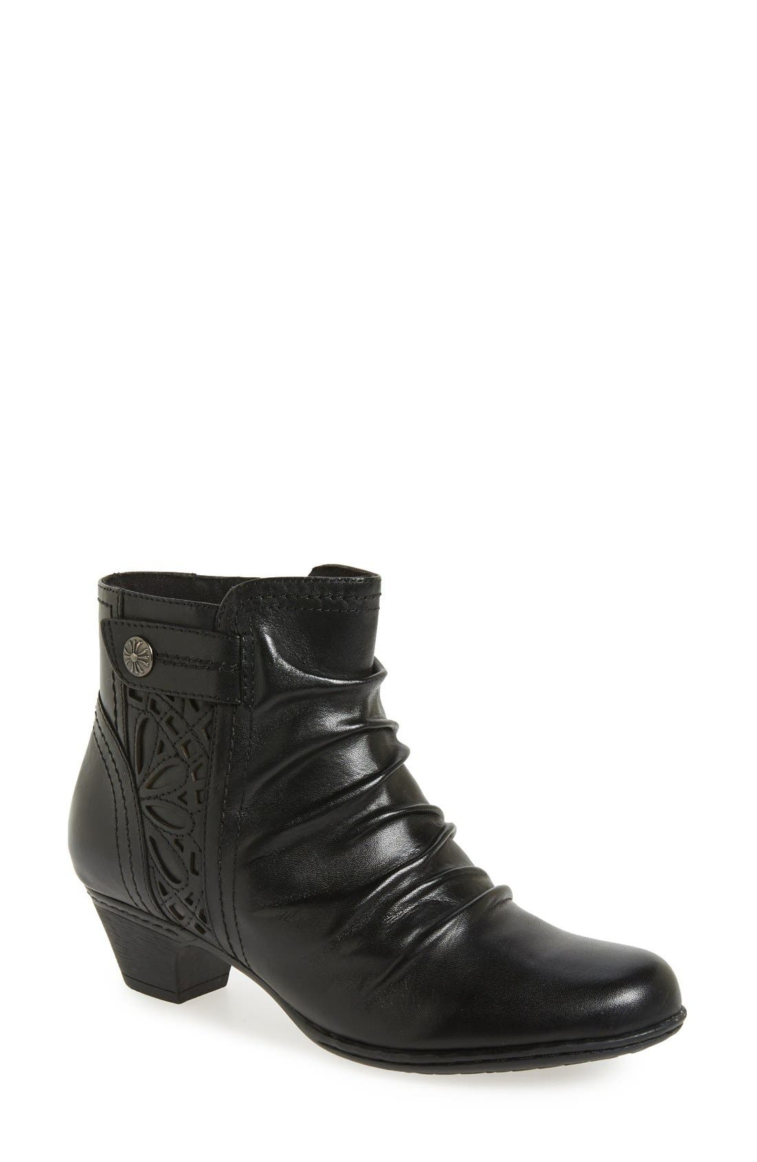 'Abilene' Bootie,                             Main thumbnail 1, color,                             BLACK LEATHER