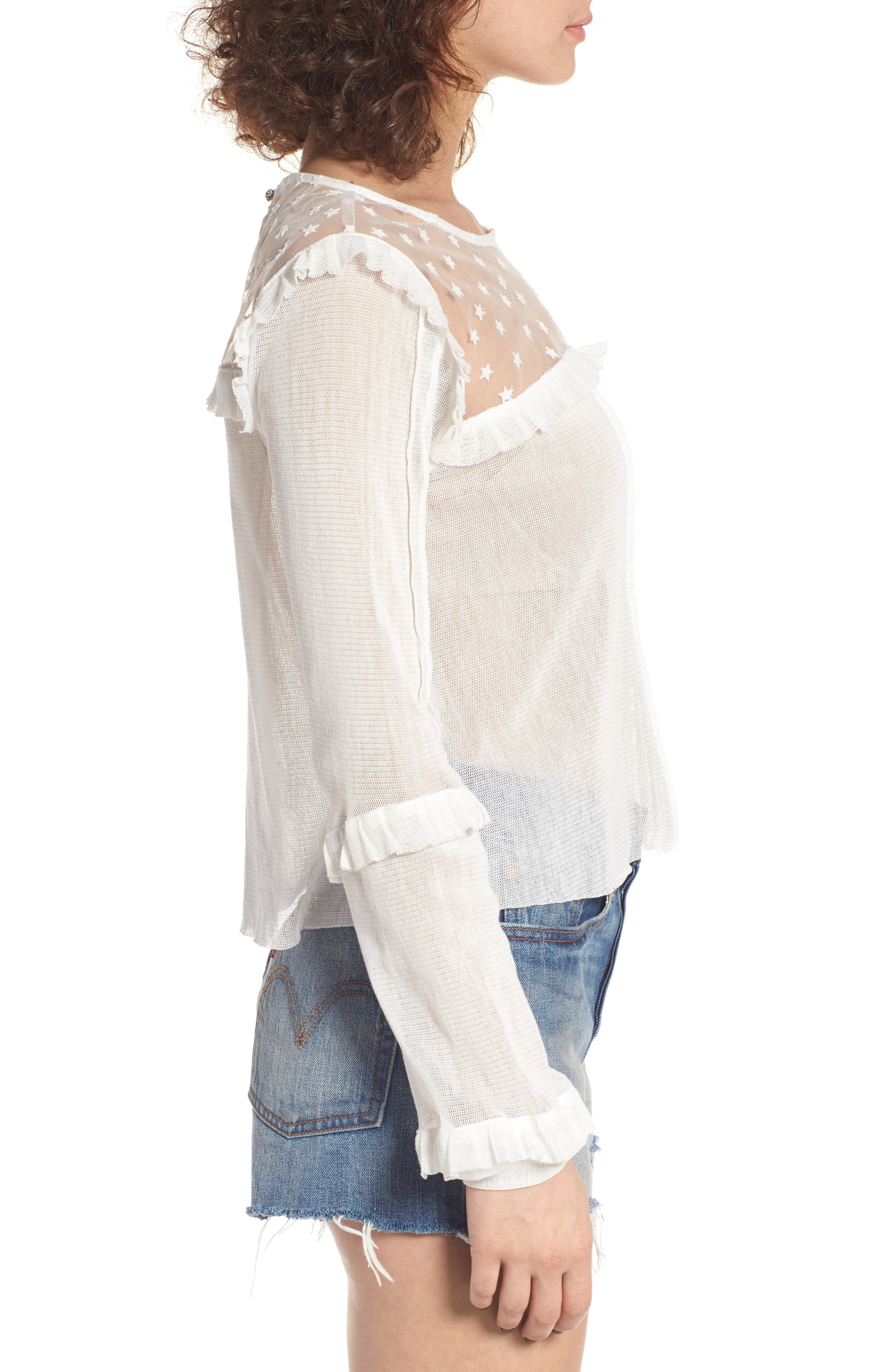Cosmos Gauze Blouse,                             Alternate thumbnail 3, color,                             100