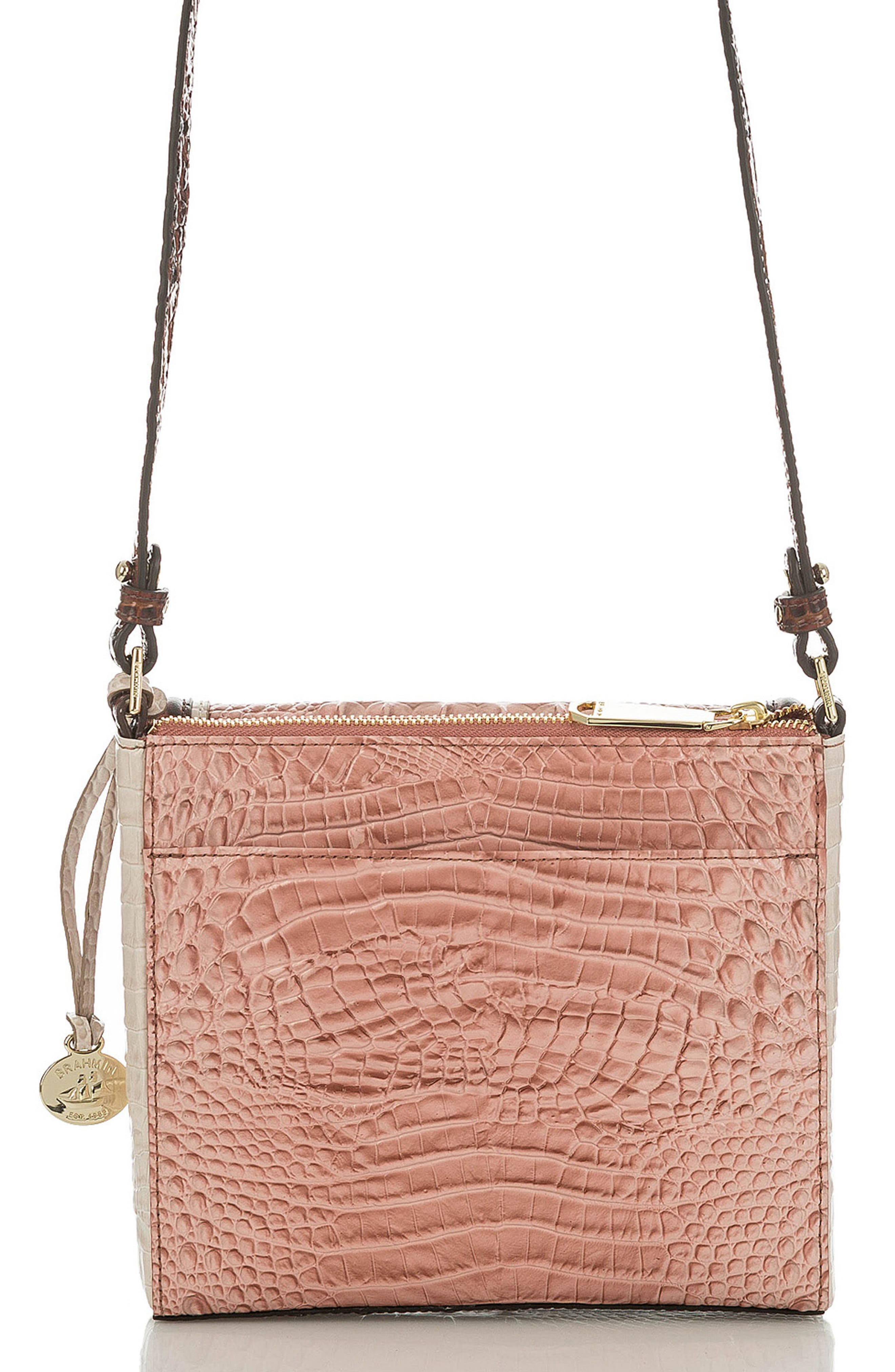 Marquis Chambery - Manhattan Croc Embossed Leather Crossbody Bag,                             Alternate thumbnail 2, color,