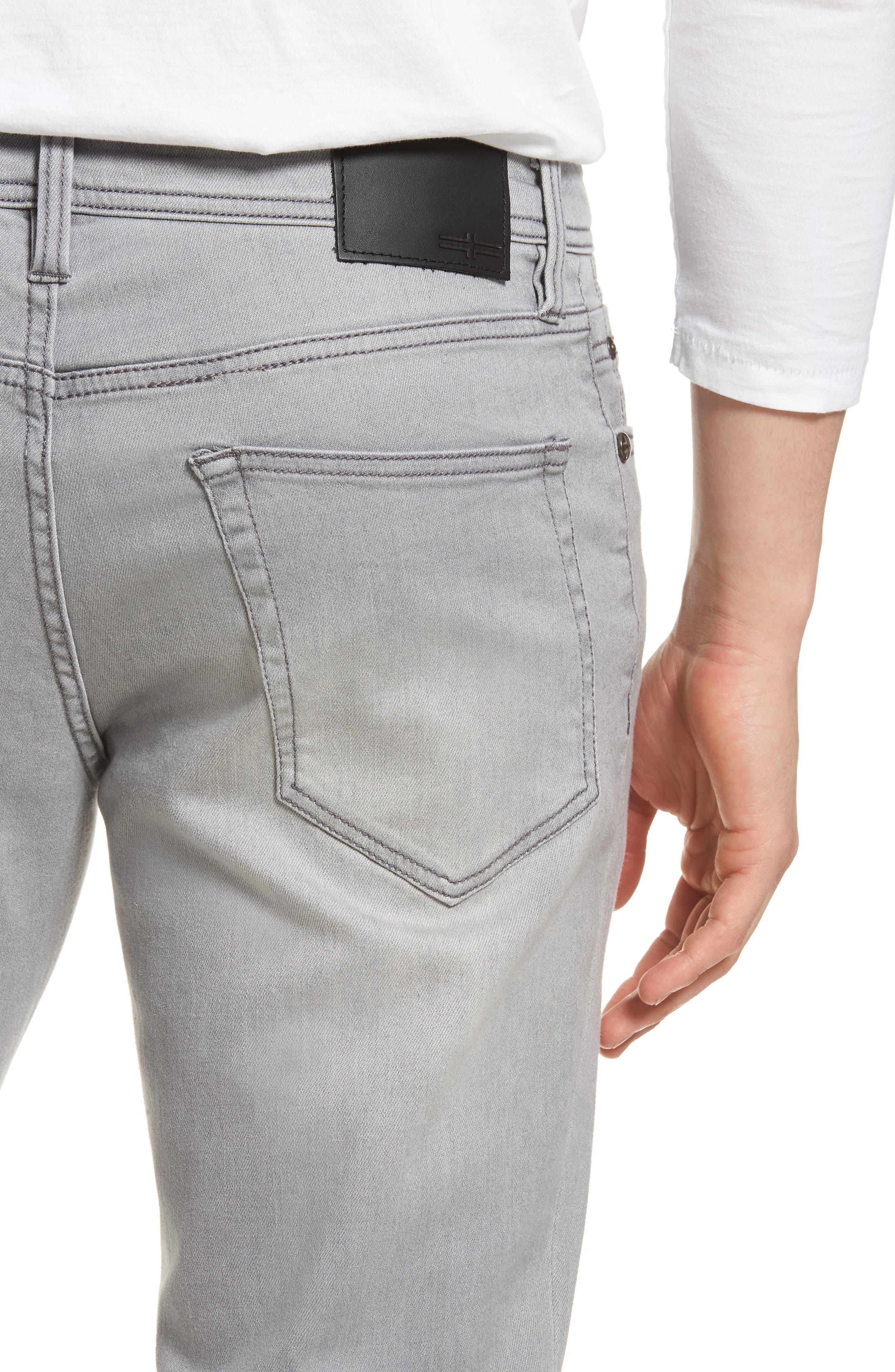 Jeans Co. Kingston Slim Straight Leg Jeans,                             Alternate thumbnail 4, color,                             COAL MINE DARK