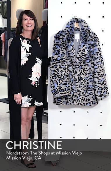 Animal Print Faux Fur Coat, sales video thumbnail