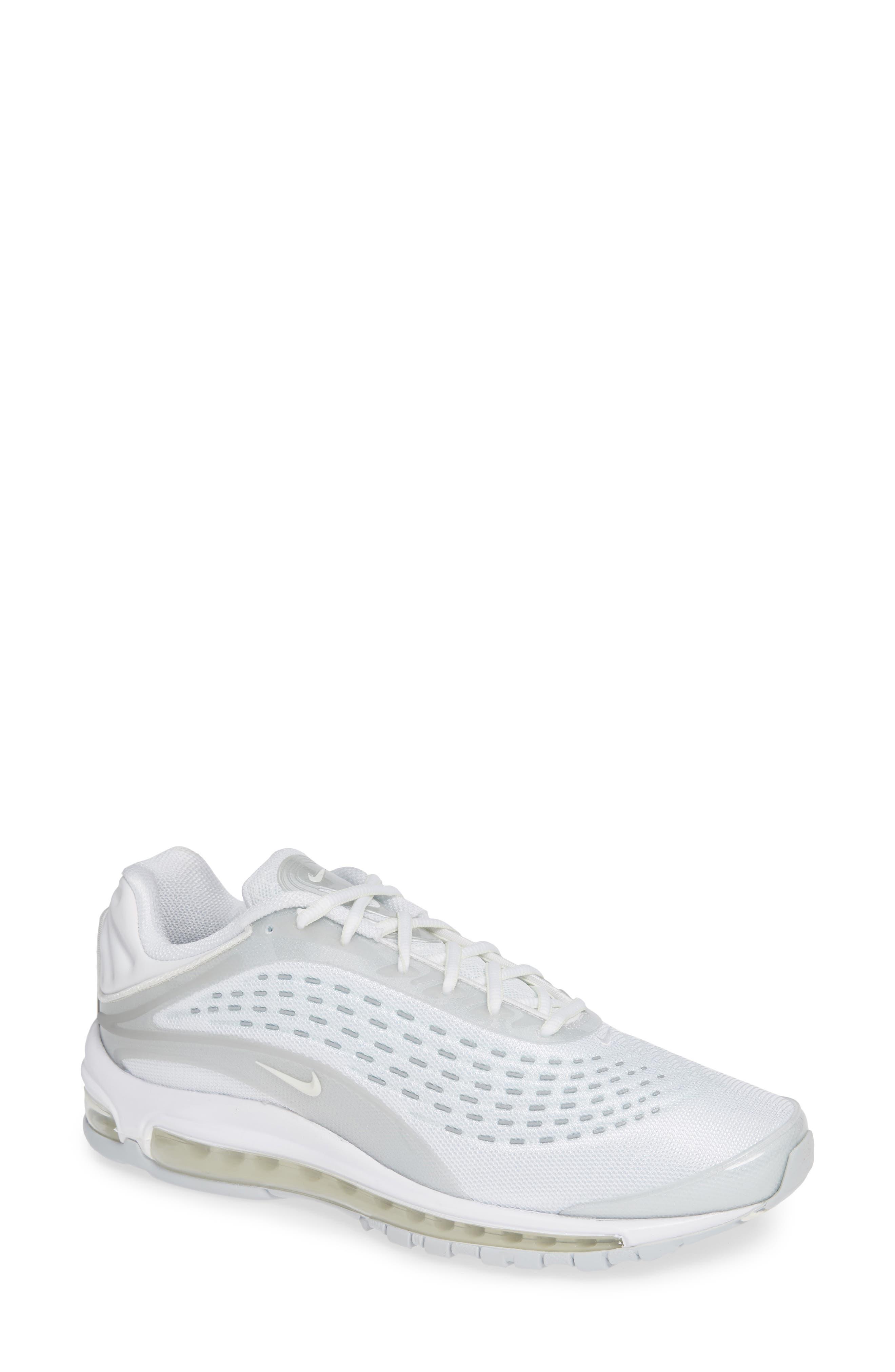 NIKE Air Max Deluxe Sneaker, Main, color, WHITE/ SAIL/ PURE PLATINUM